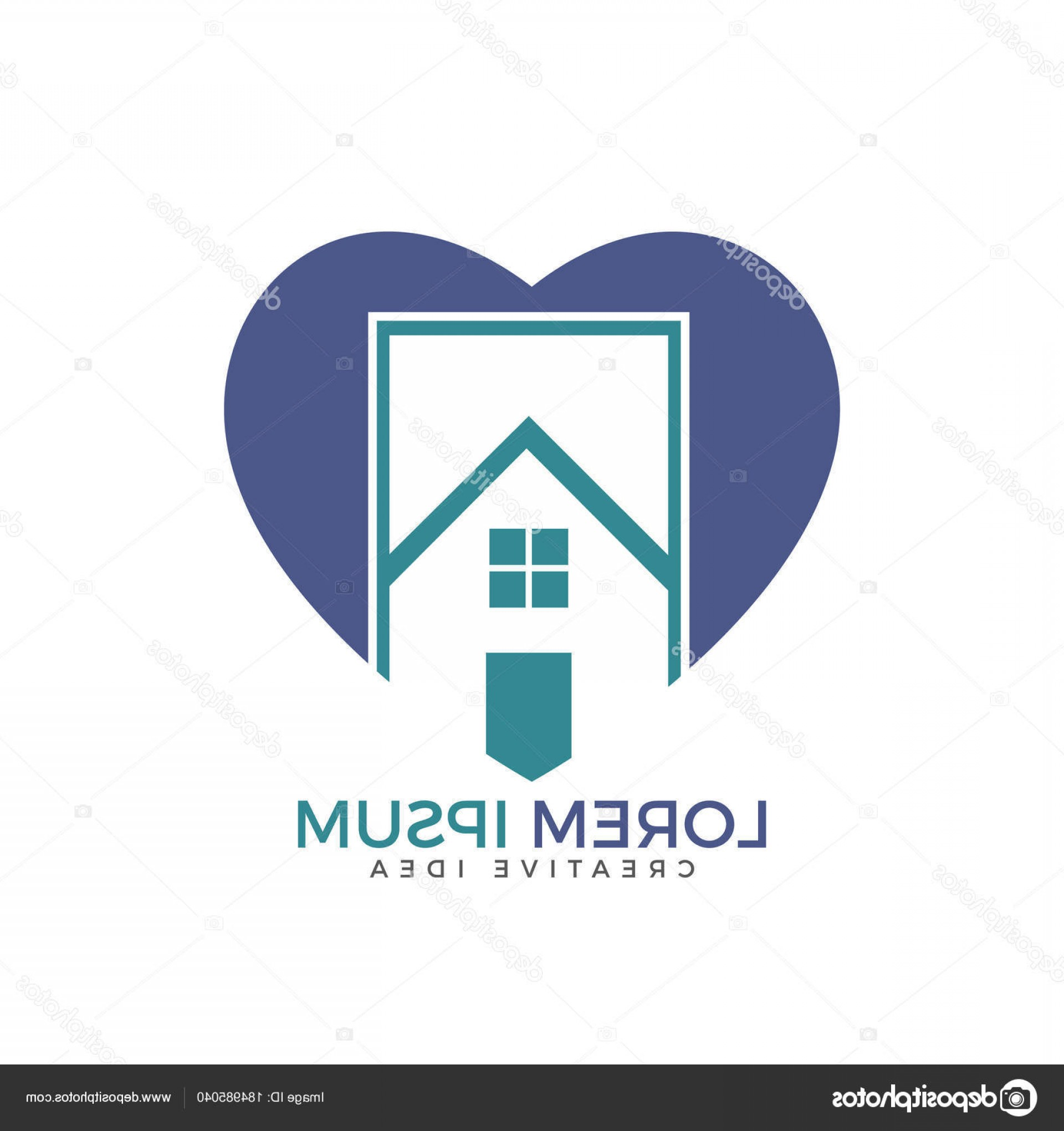 Home Logo Vector: Stock Illustration House Heart Logo Vector Design