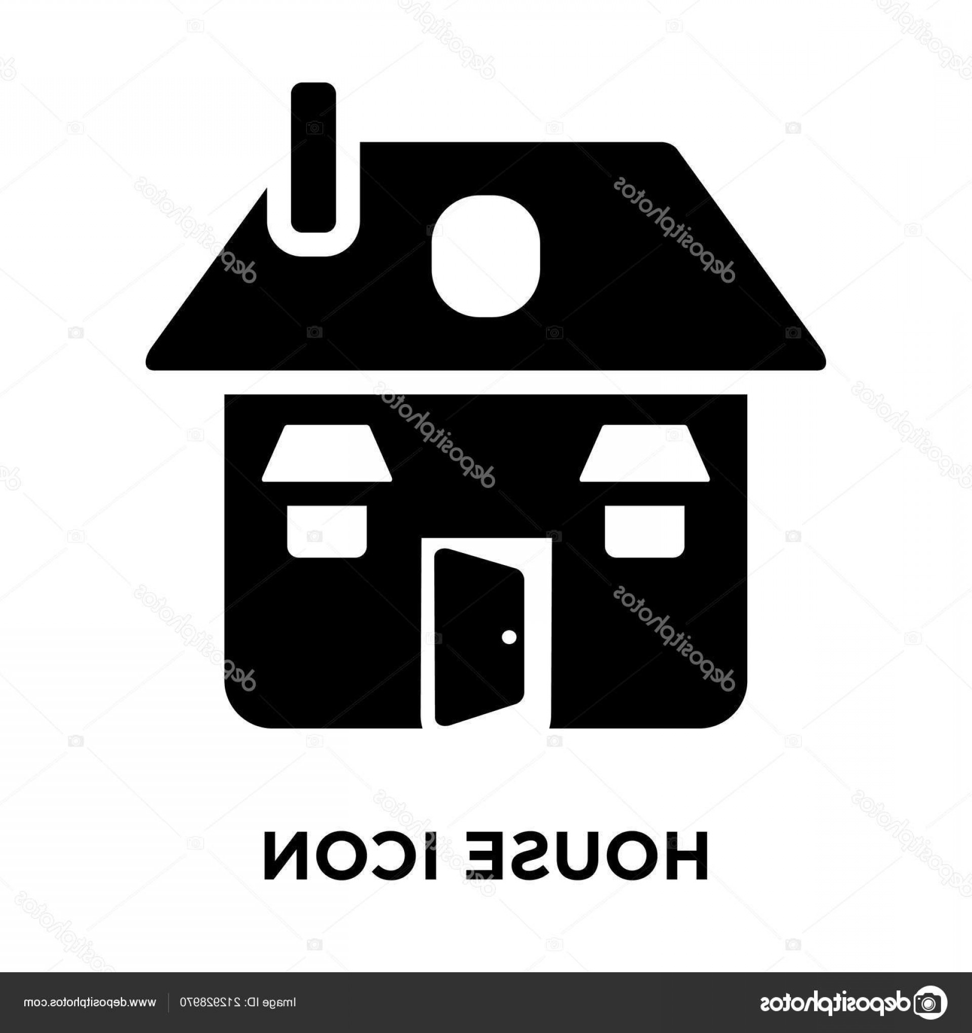 Vector House Sign: Stock Illustration House Icon Vector Isolated White