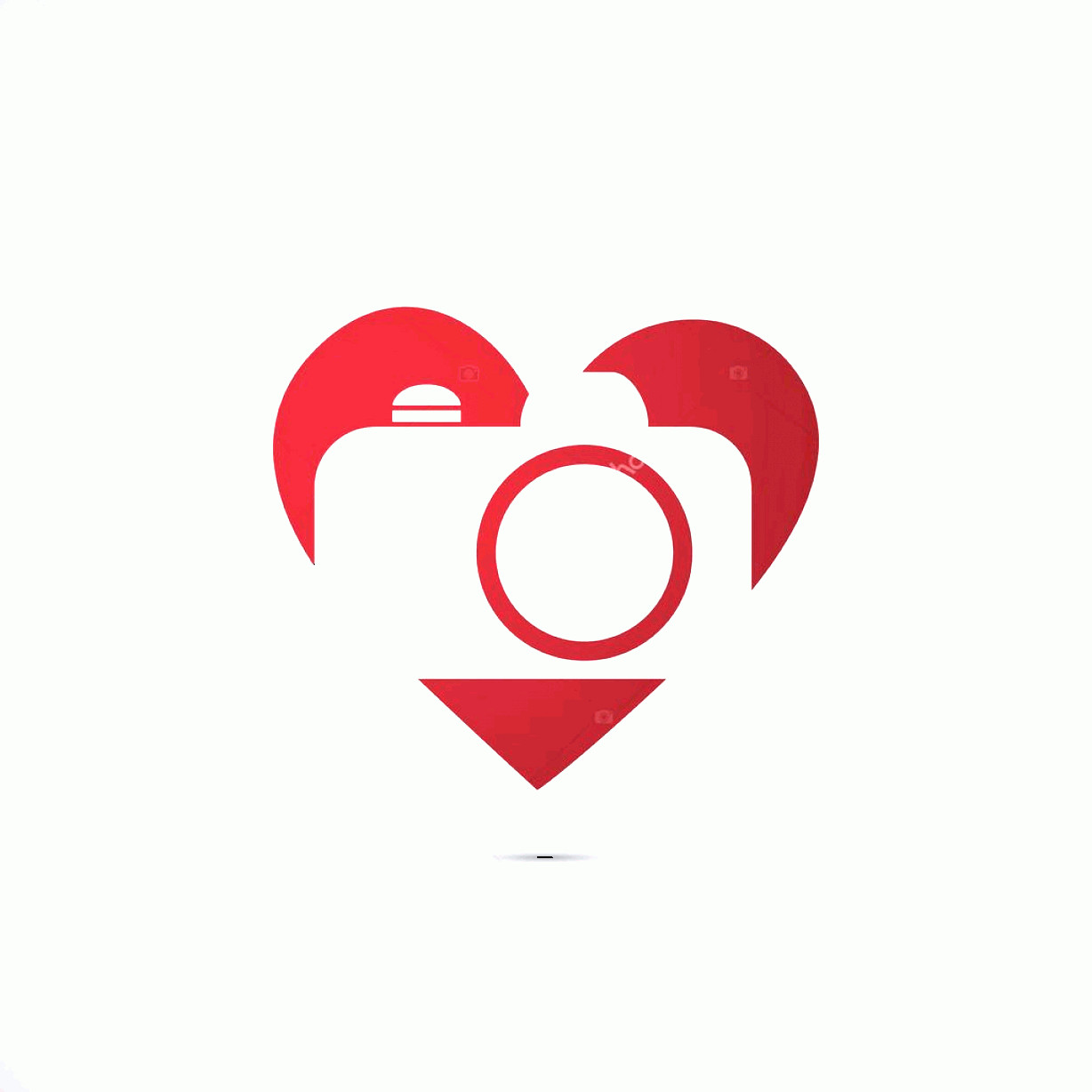 Camera Heart Clip Art Vector: Stock Illustration I Love Photography Camera Icon
