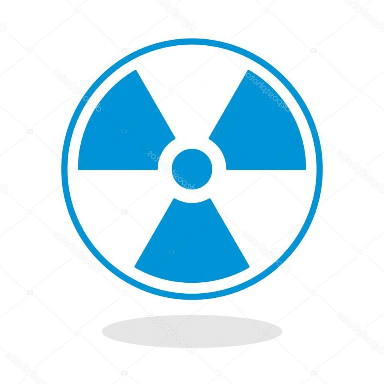Radioactive Symbol Vector: Stock Illustration Icon Of A Radioactive Symbol