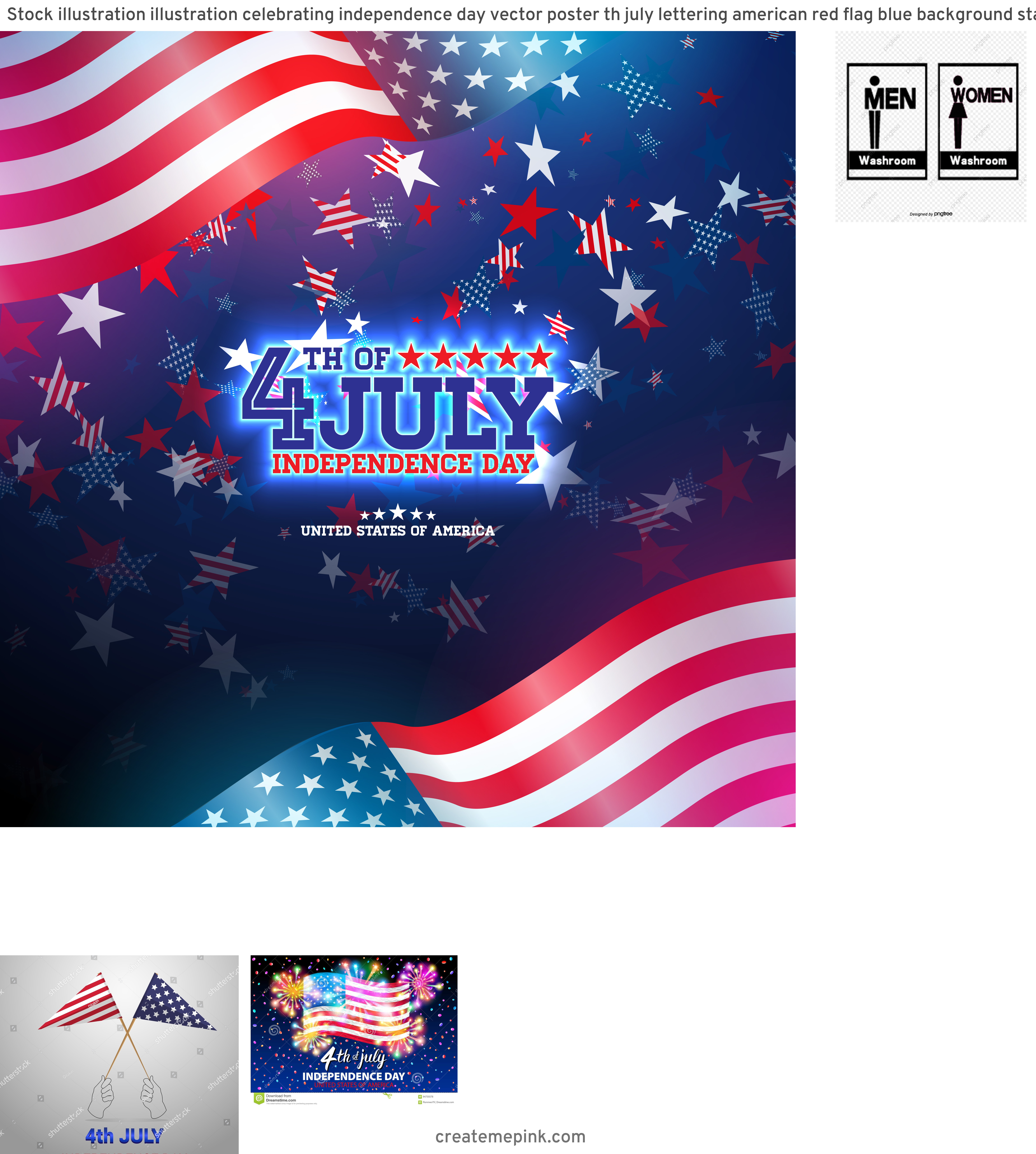 4th Of July Vectors For Men's: Stock Illustration Illustration Celebrating Independence Day Vector Poster Th July Lettering American Red Flag Blue Background Sta Image