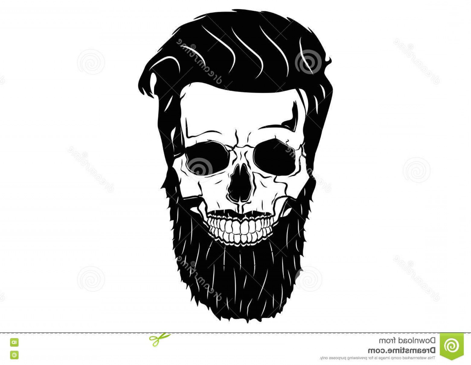Fear The Beard Vector: Stock Illustration Illustration Vector Graphic Skull Pirate Hipster Creative Use Design Image