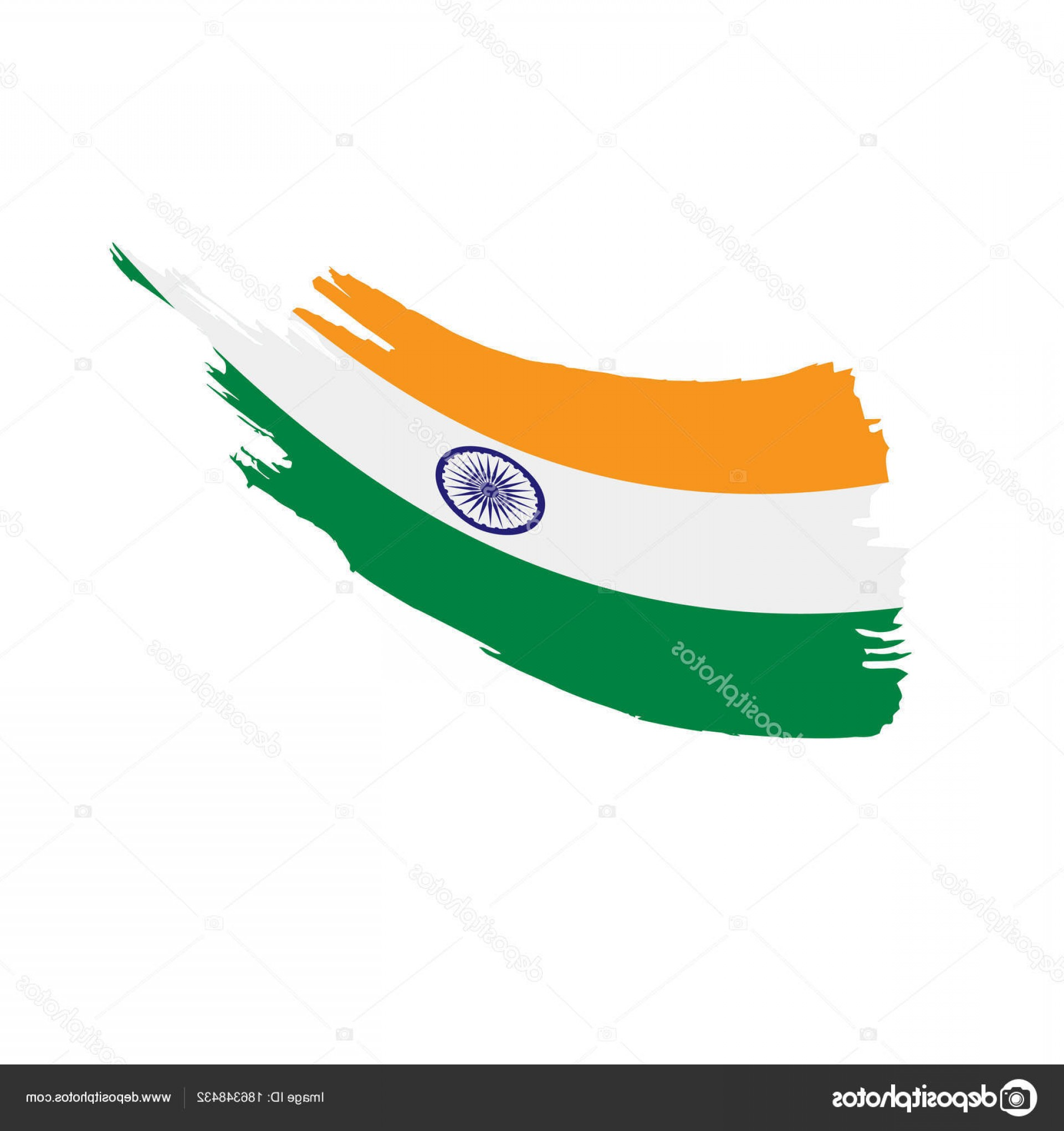India Flag Vector: Stock Illustration India Flag Vector Illustration
