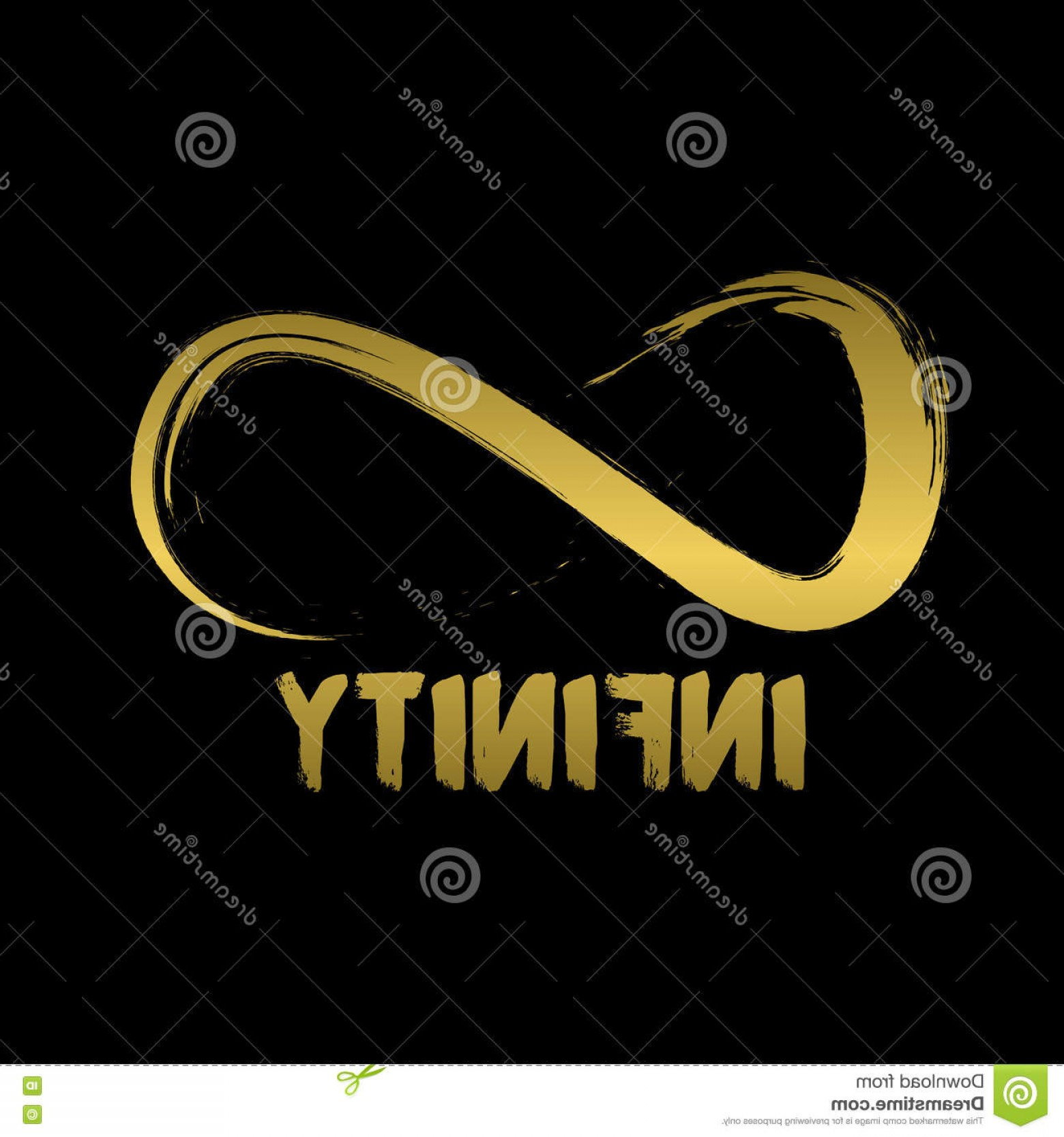 Decorative Infinity Symbol Vector: Stock Illustration Infinity Symbol Hand Drawn Logo Concept Simple Your Business Quite Unique Can Stand Crowd Easy To Image