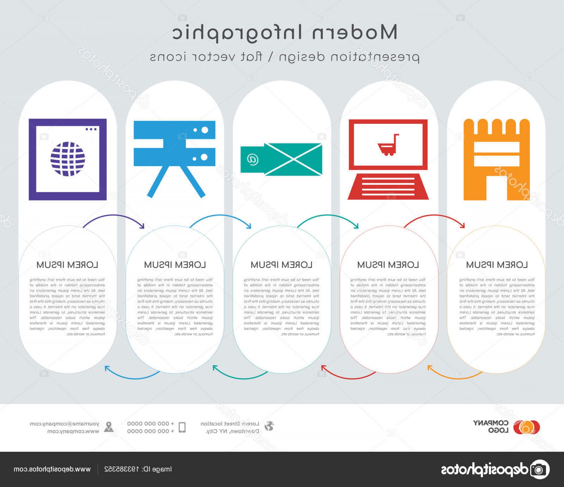 Vector Email Server: Stock Illustration Infographics Design Vector Shop Email