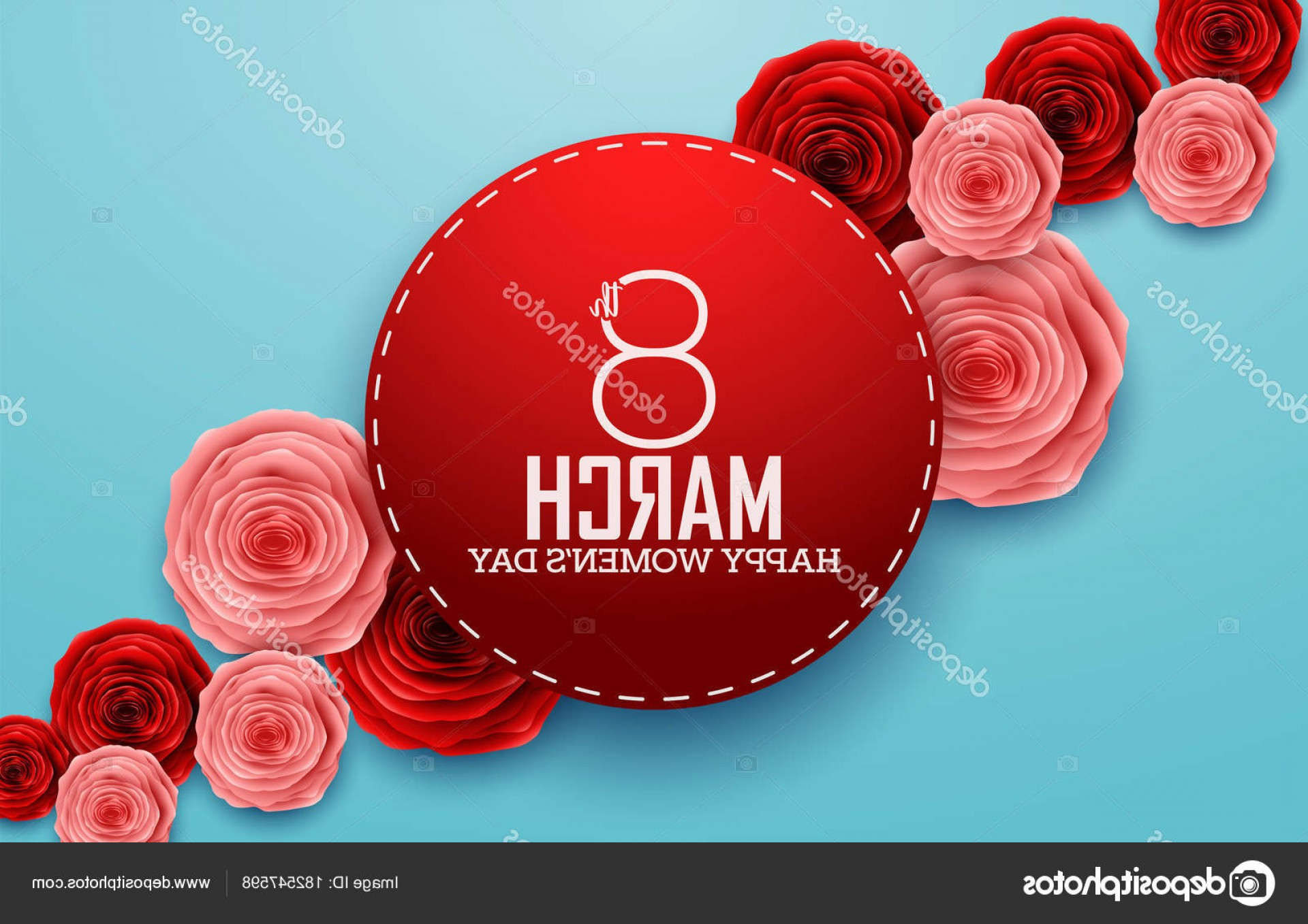 Women With Roses Vector: Stock Illustration International Happy Women Day Roses