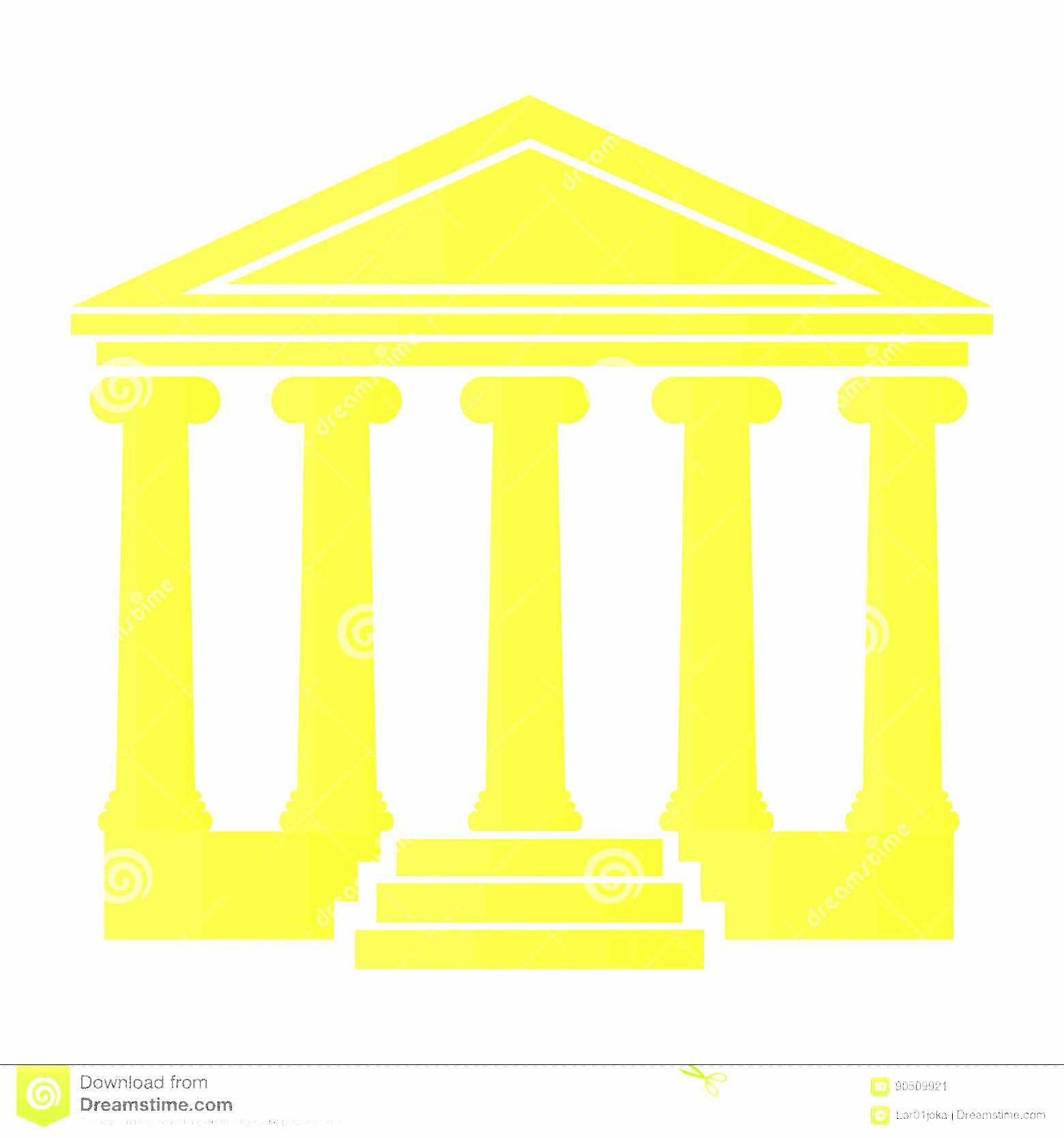 Court Building Vector: Stock Illustration Isolated Court Building Silhouette Vector Illustration Image