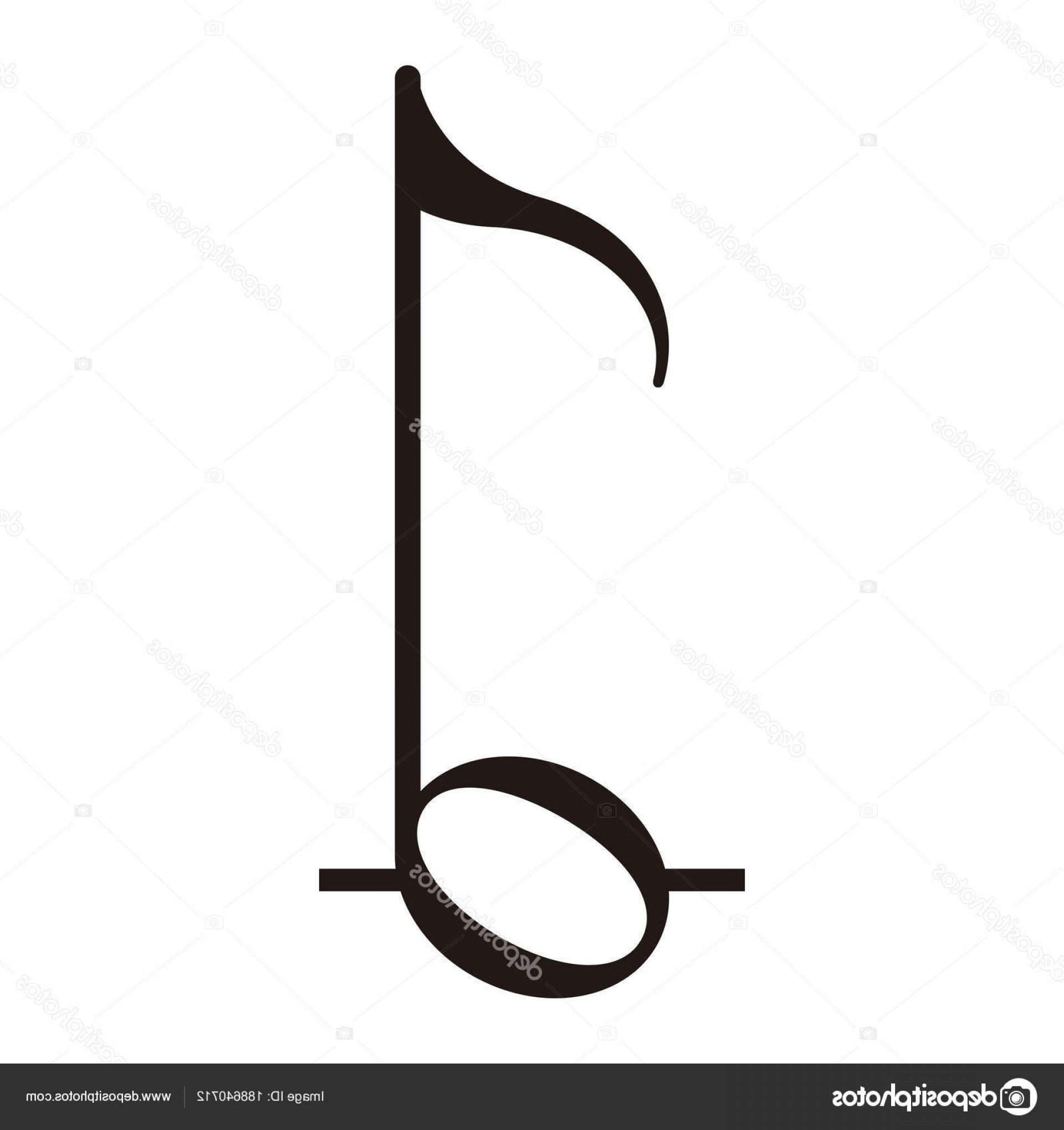 Eighth Note Vector: Stock Illustration Isolated Eighth Note Musical Note