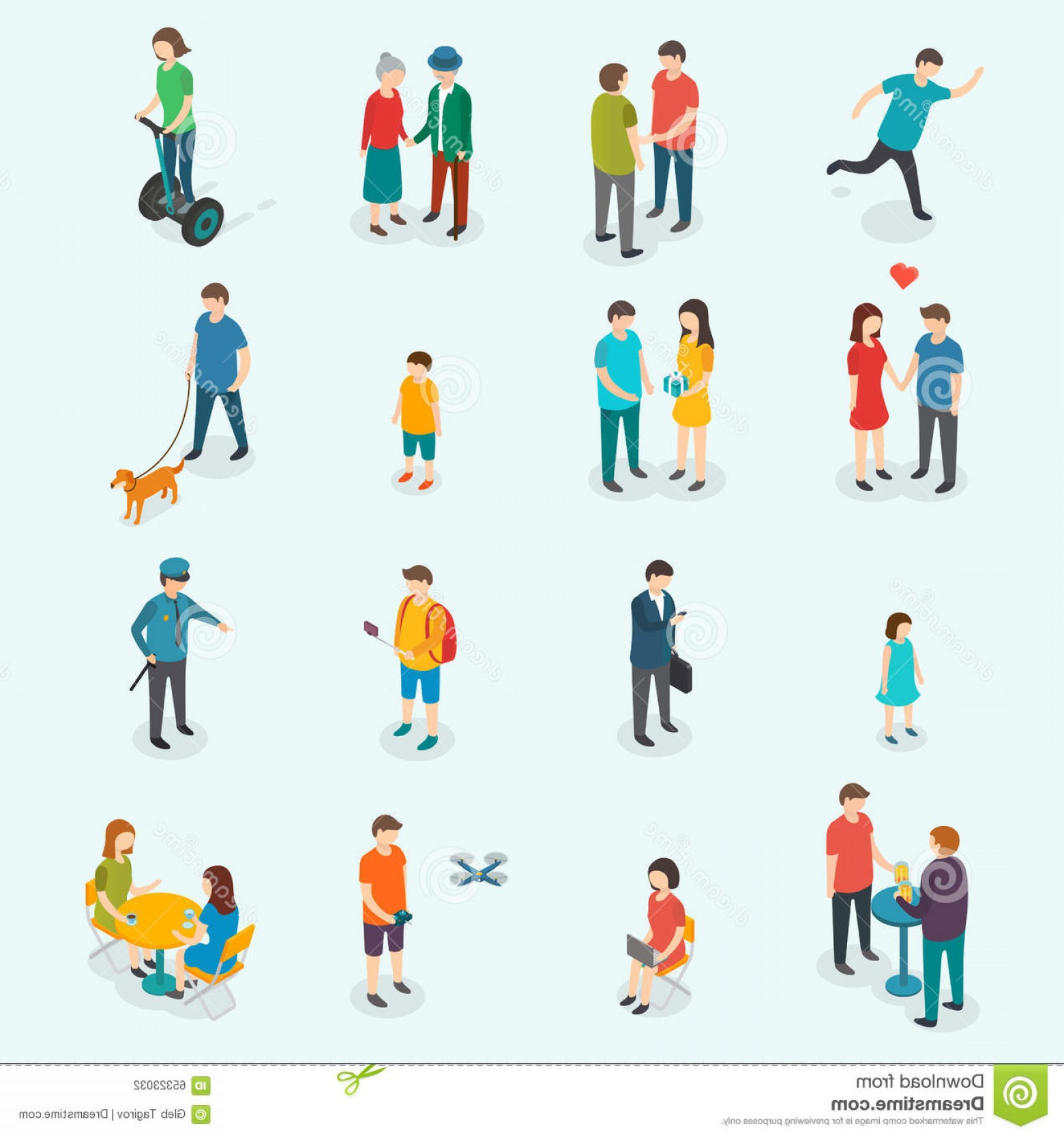Vector People Man: Stock Illustration Isometric D Vector People Set Woman Man Design Illustration Eps Image