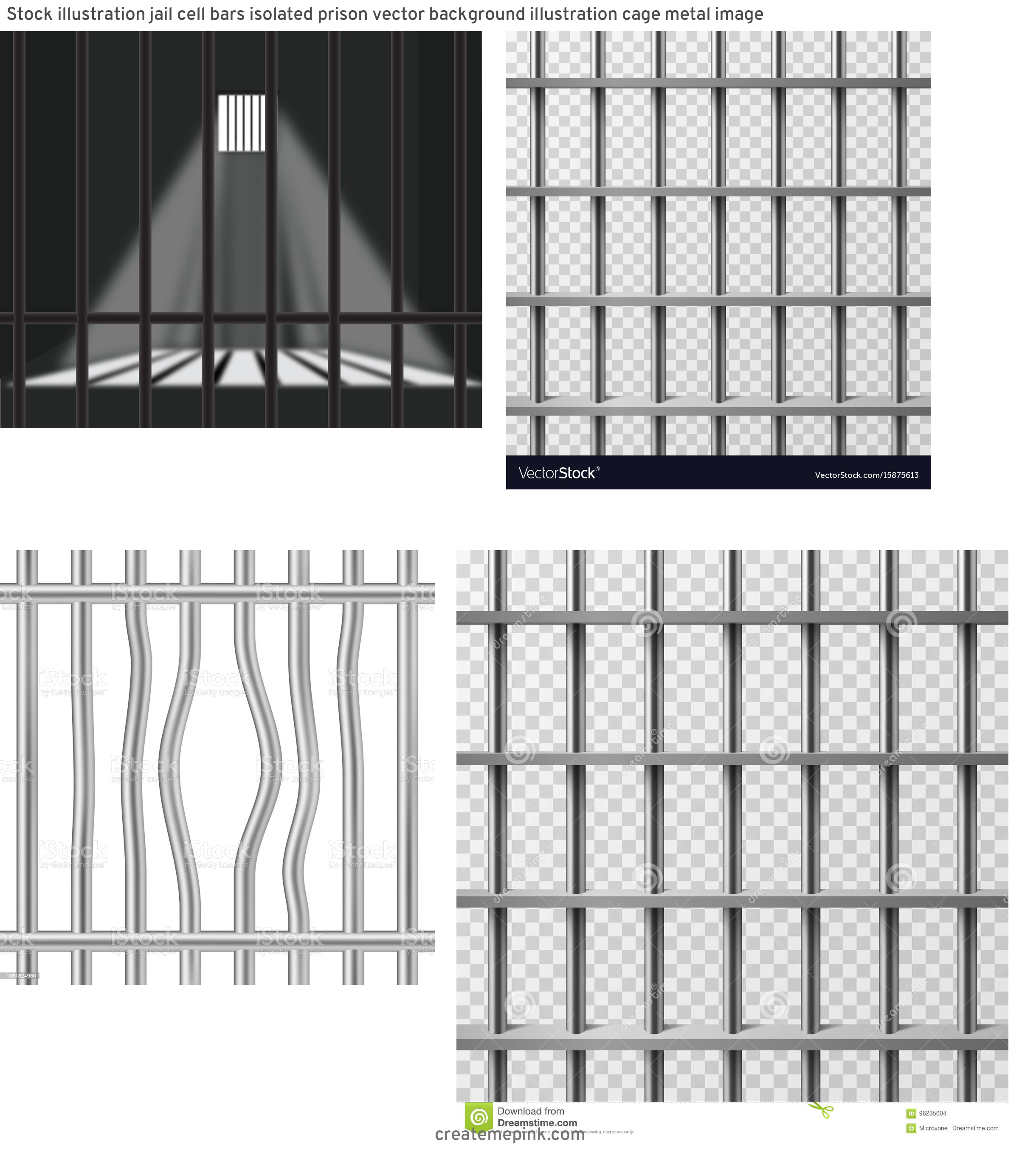 Jail Cell Vector: Stock Illustration Jail Cell Bars Isolated Prison Vector Background Illustration Cage Metal Image