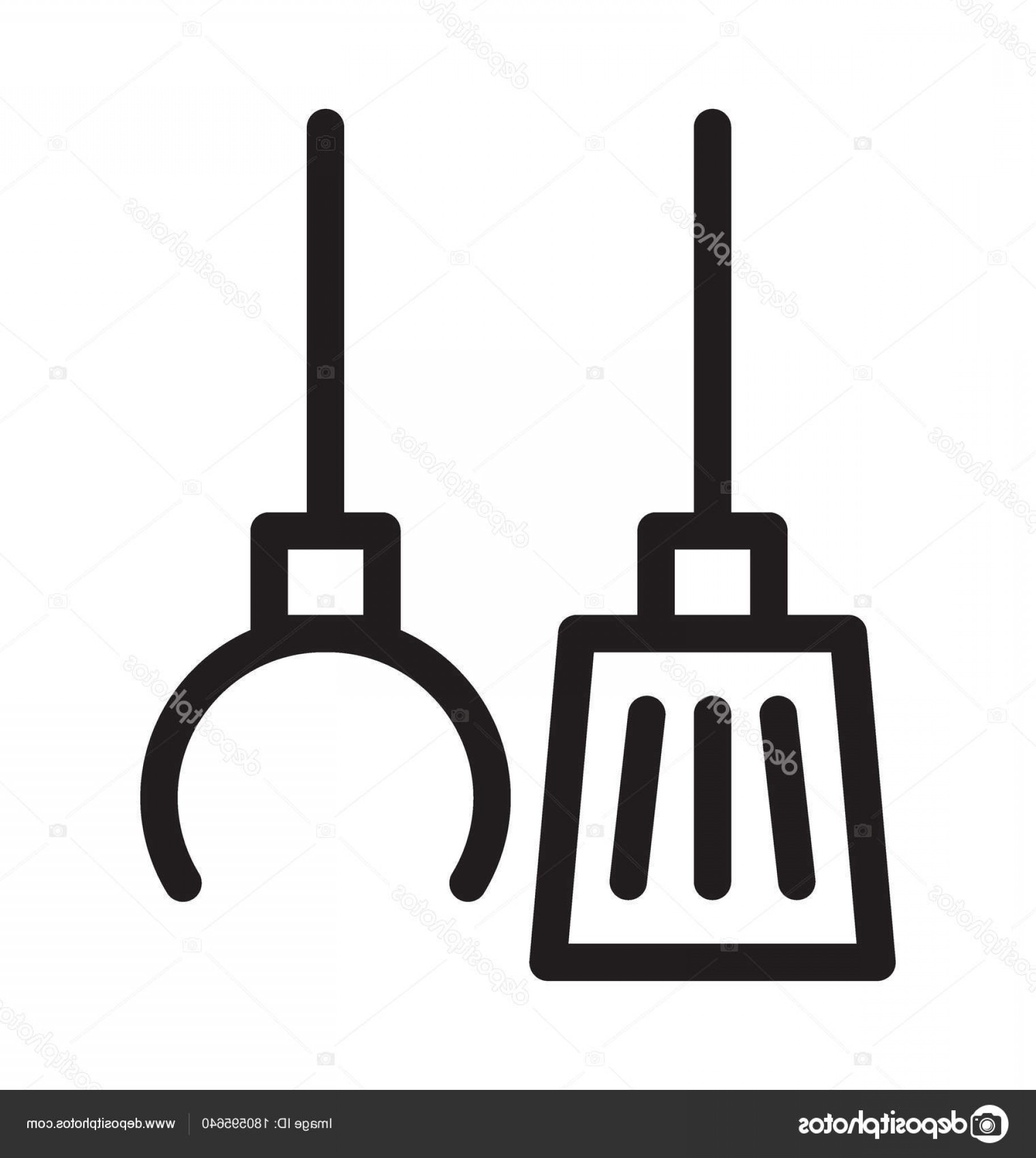 Janitorial Vector: Stock Illustration Janitorial Services Vector Outline Icon