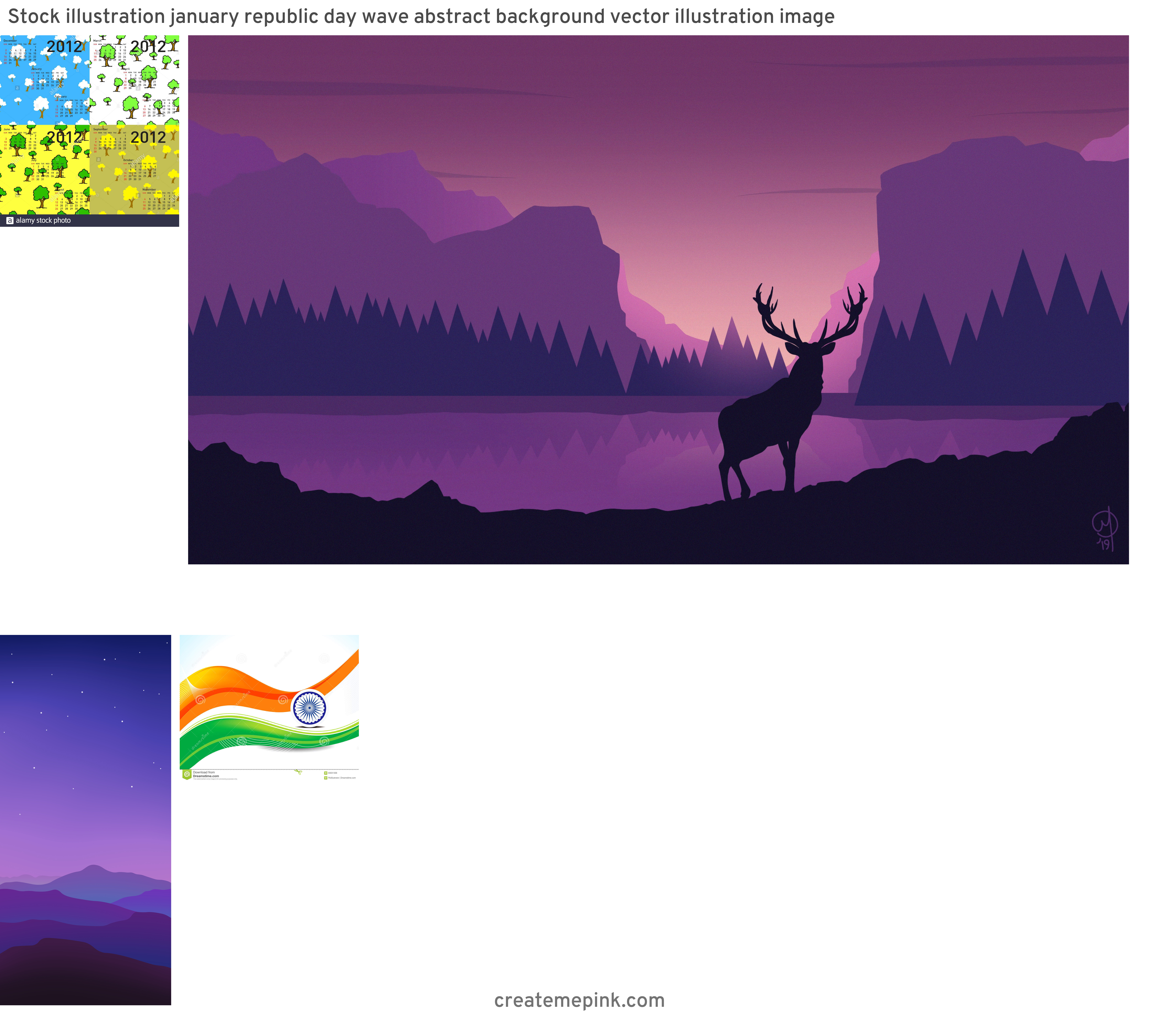 January Wallpaper Vector: Stock Illustration January Republic Day Wave Abstract Background Vector Illustration Image