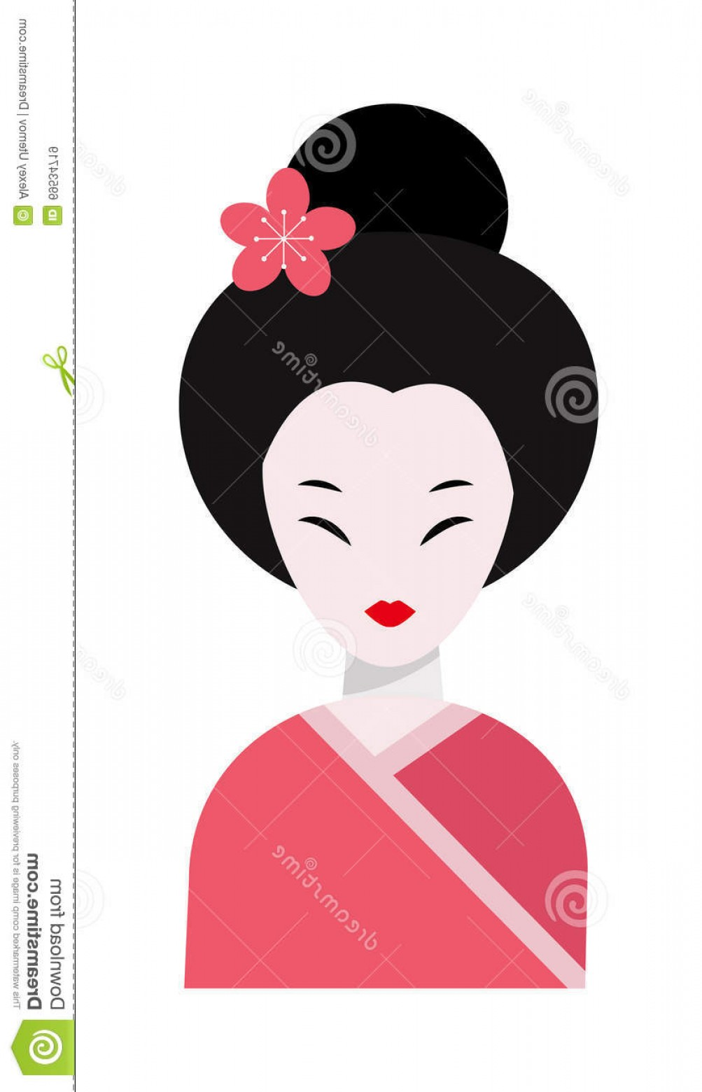 Asian Woman Vector: Stock Illustration Japanese Woman Folk Art Maiden Cute Kokeshi Beautiful Asian Character Vector Japan Traditional Japan Image
