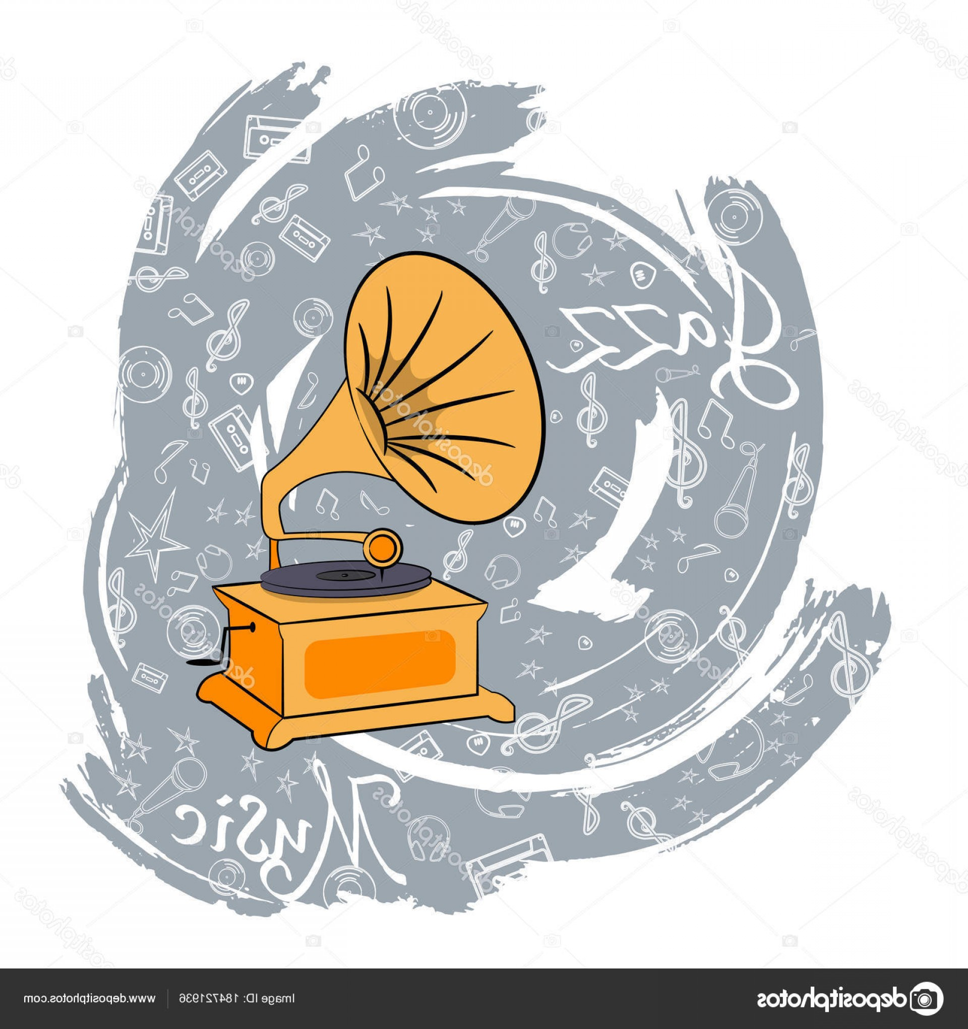 Vinyl Vector Tools: Stock Illustration Jazz Tools Abstraction