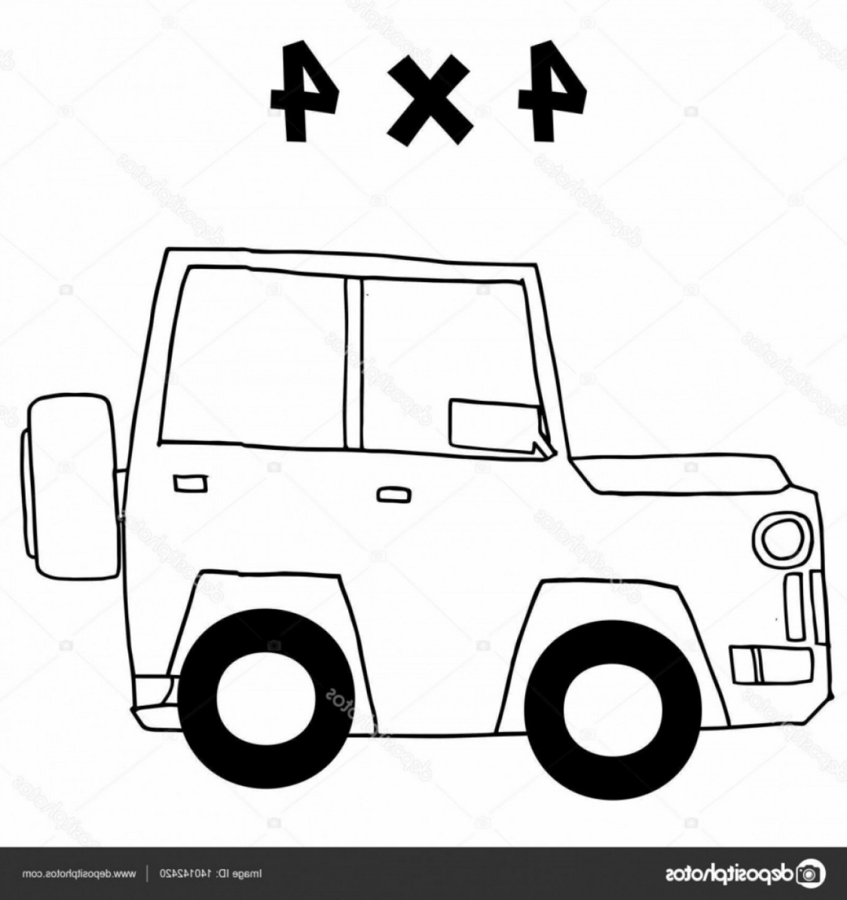 Vector Clip Art Of Jeep: Stock Illustration Jeep Of Vector Art Illustration