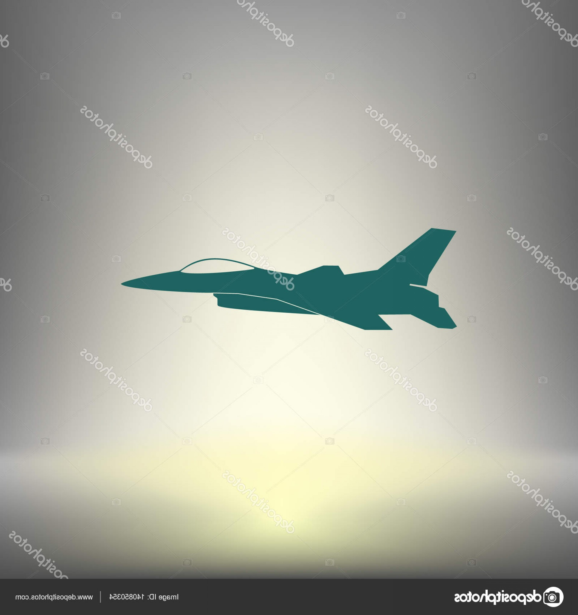 Vector Jet Fighter: Stock Illustration Jet Fighter Icon Vector Airplane