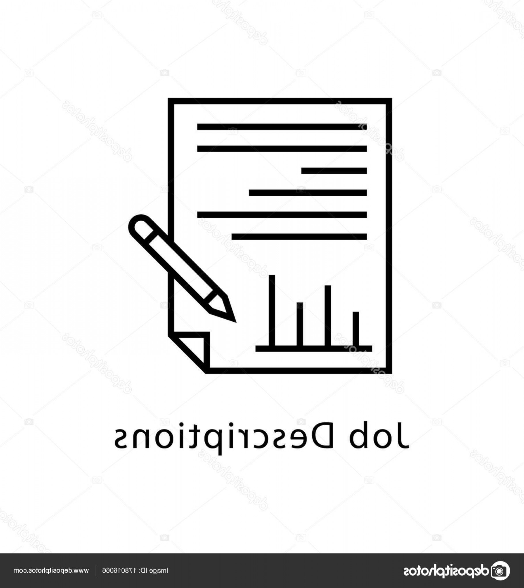 Vectors Job Description: Stock Illustration Job Description Vector Line Icon