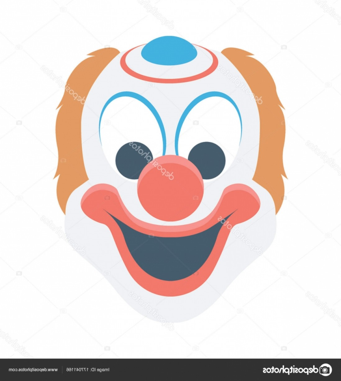 Joker Smile Vector Art: Stock Illustration Joker Face Vector Icon