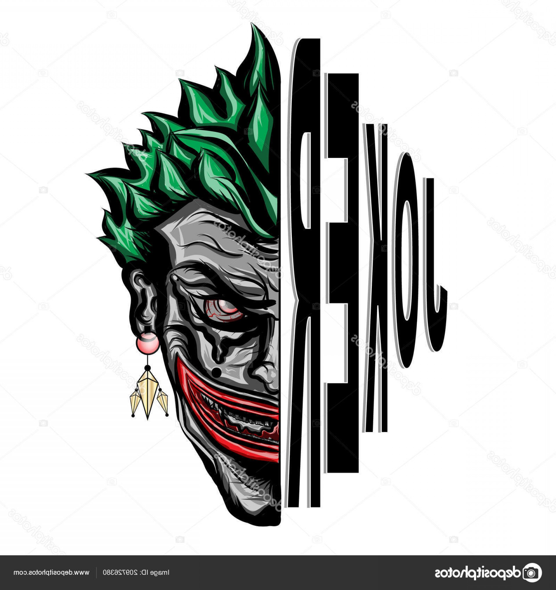 Joker Vector Graphics: Stock Illustration Joker Smiling Face Vector