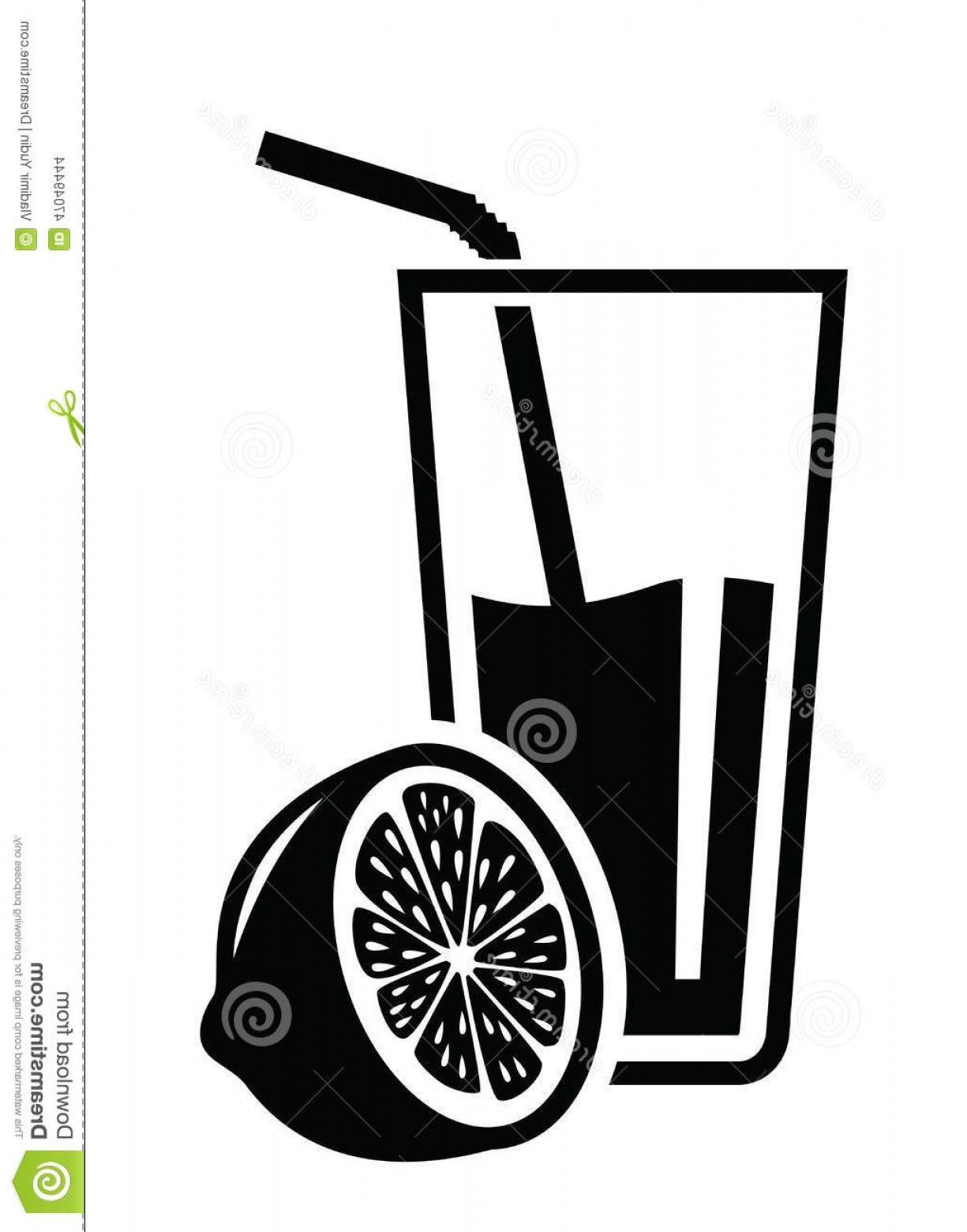 Juice Vector Black: Stock Illustration Juice Icon Vector Black White Background Image