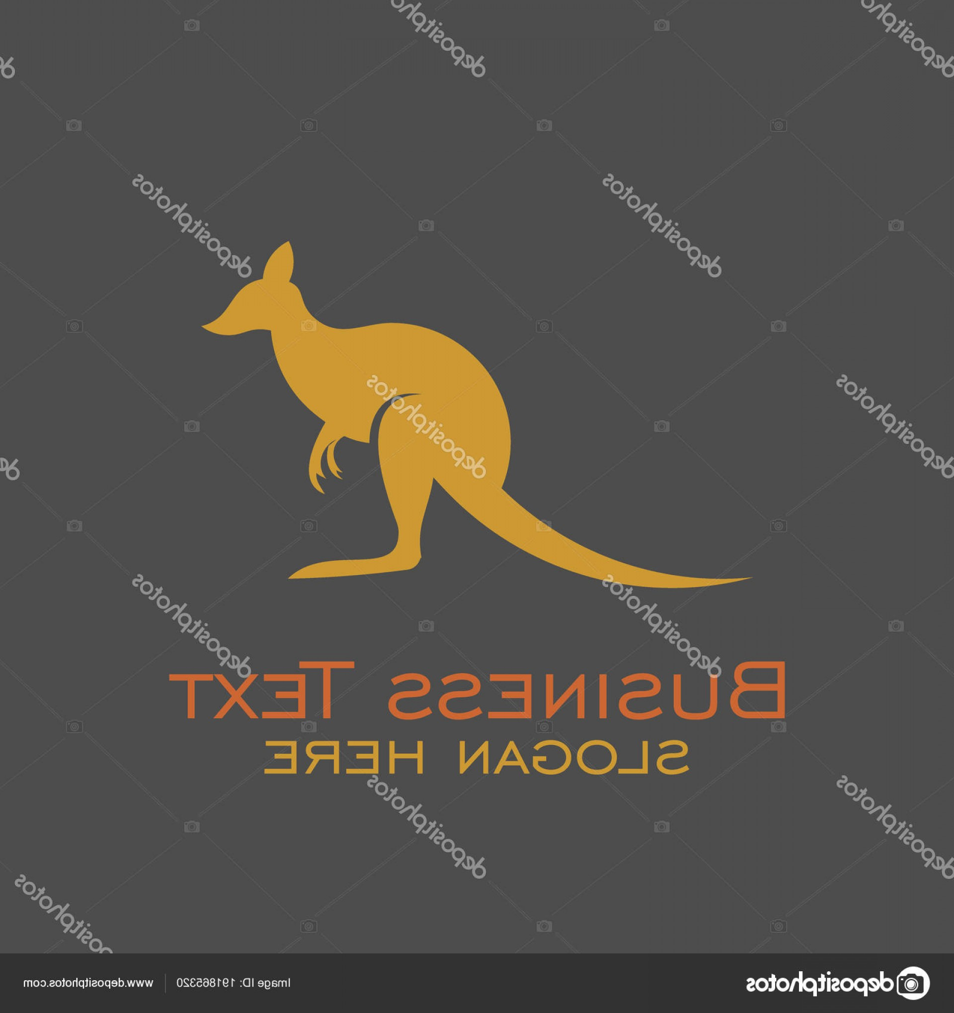 Illustrator Vector Format: Stock Illustration Kangaroo Logo Vector Also Available