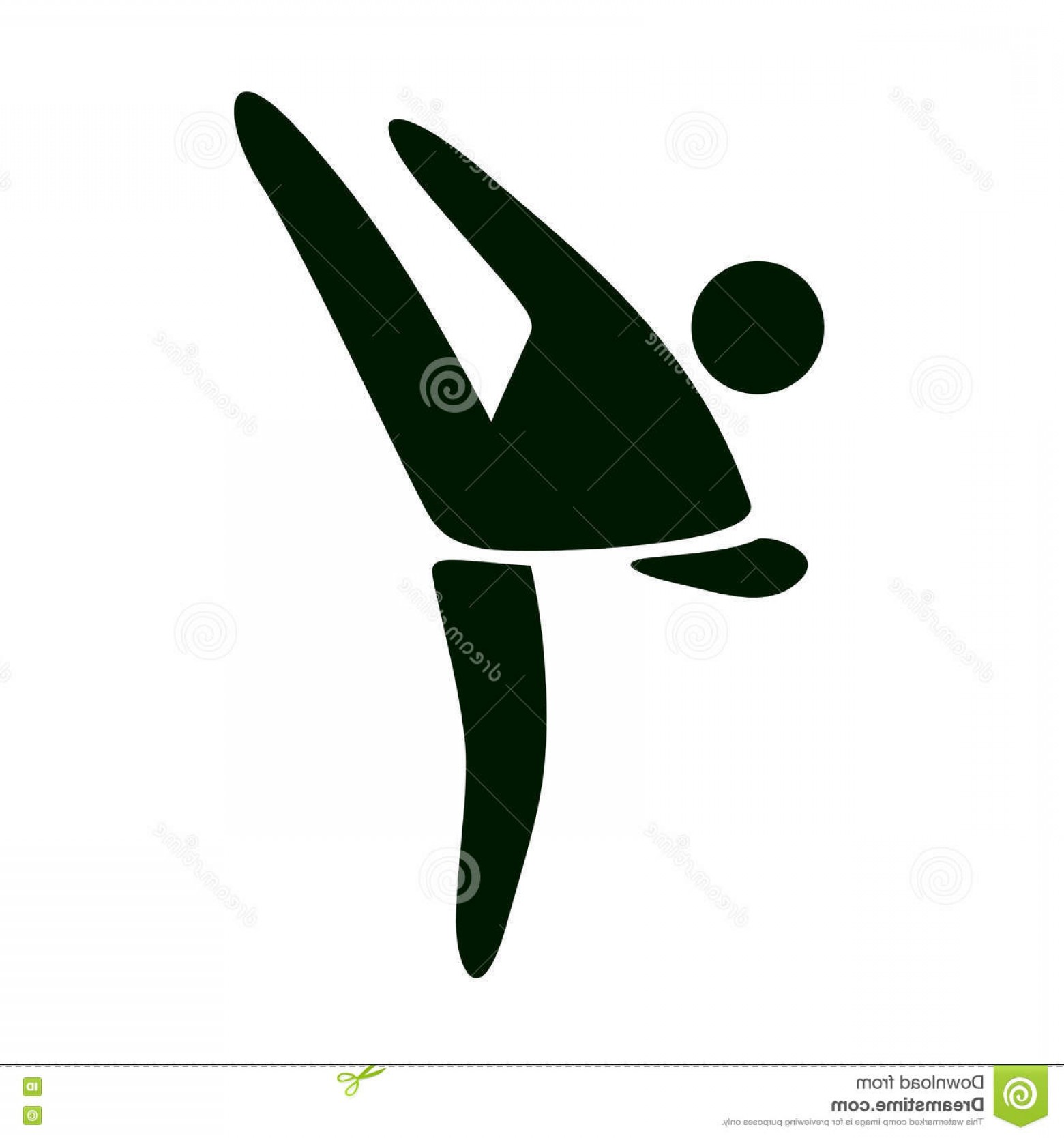 Karate Vector: Stock Illustration Karate Kick Vector Icon White Background Image