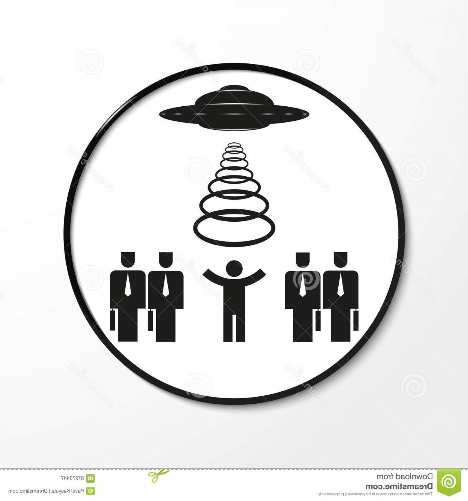 Vector Black And White Organization: Stock Illustration Kidnapping Secret Organization Aliens Vector Illustration Black White View Image Specific Background Image