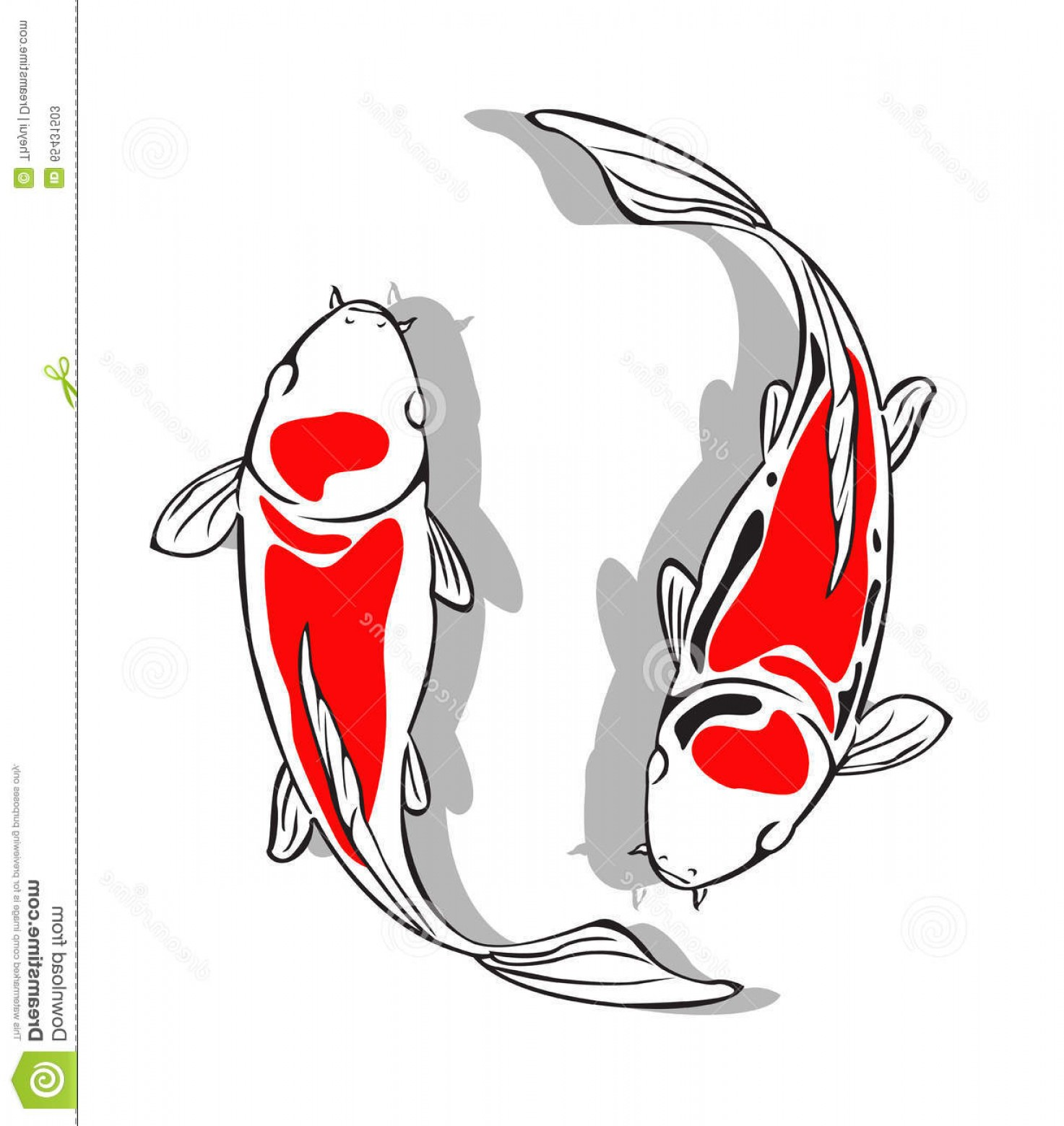 Koi Vector: Stock Illustration Koi Fish Vector Design Create Illustration Image