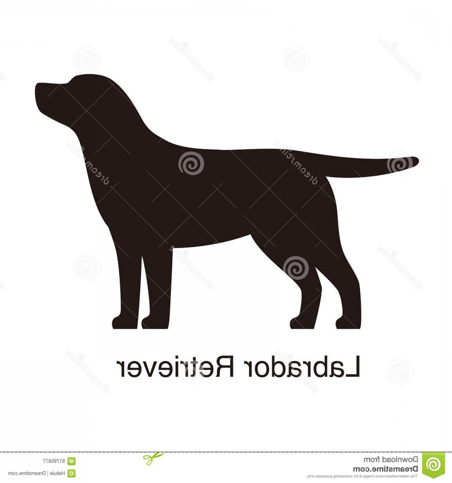 Labrador Silhouette Vector: Stock Illustration Labrador Retriever Dog Silhouette Side View Vector Illustration Image