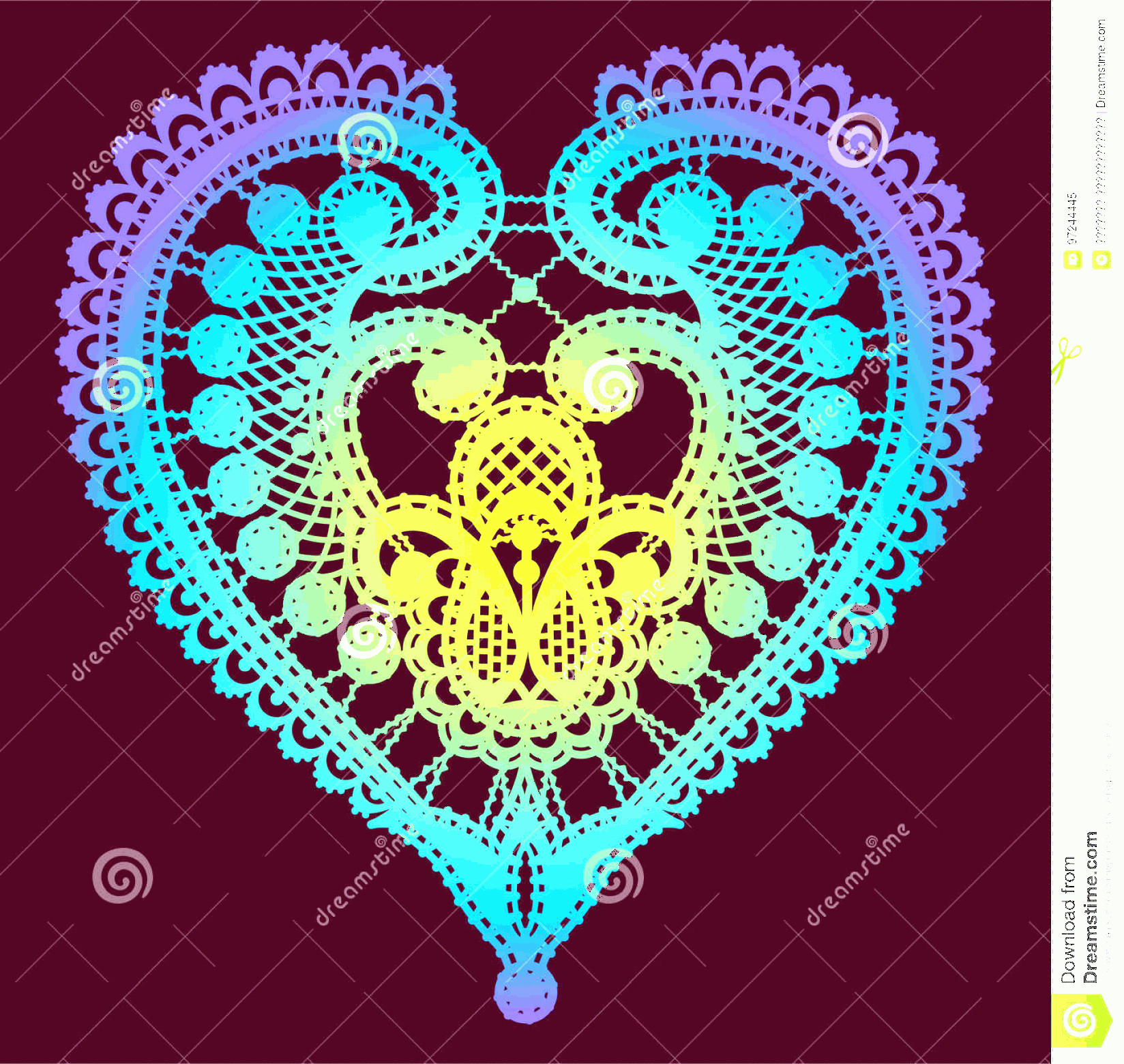 Lace Vector Images Free Clip Art: Stock Illustration Lace Heart Clip Art Black Silhouette Vector Shape Pink Background Image