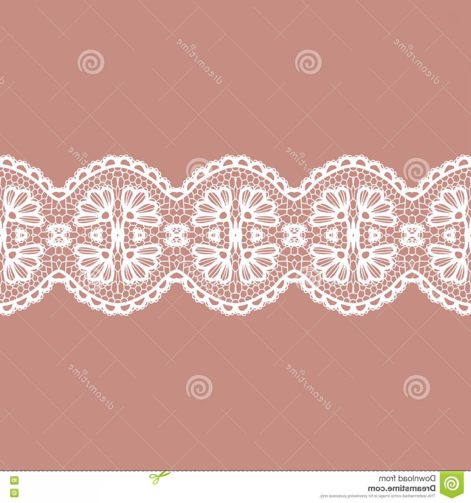Vector Can Trim White: Stock Illustration Lacy Vintage Trim White Elegant Vector Illustration Image