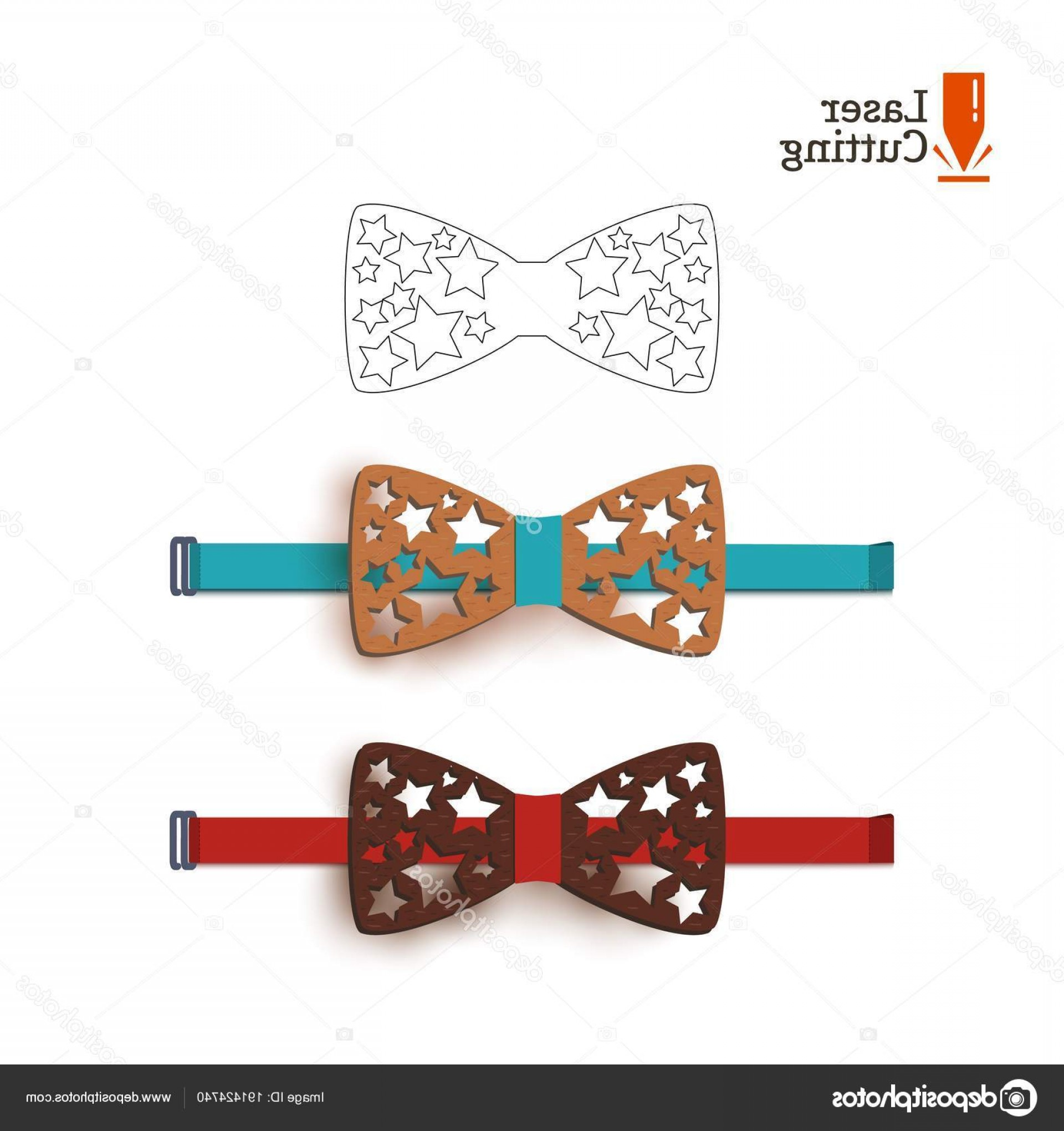 Hand Lathe Vector: Stock Illustration Laser Cut Bow Tie Template