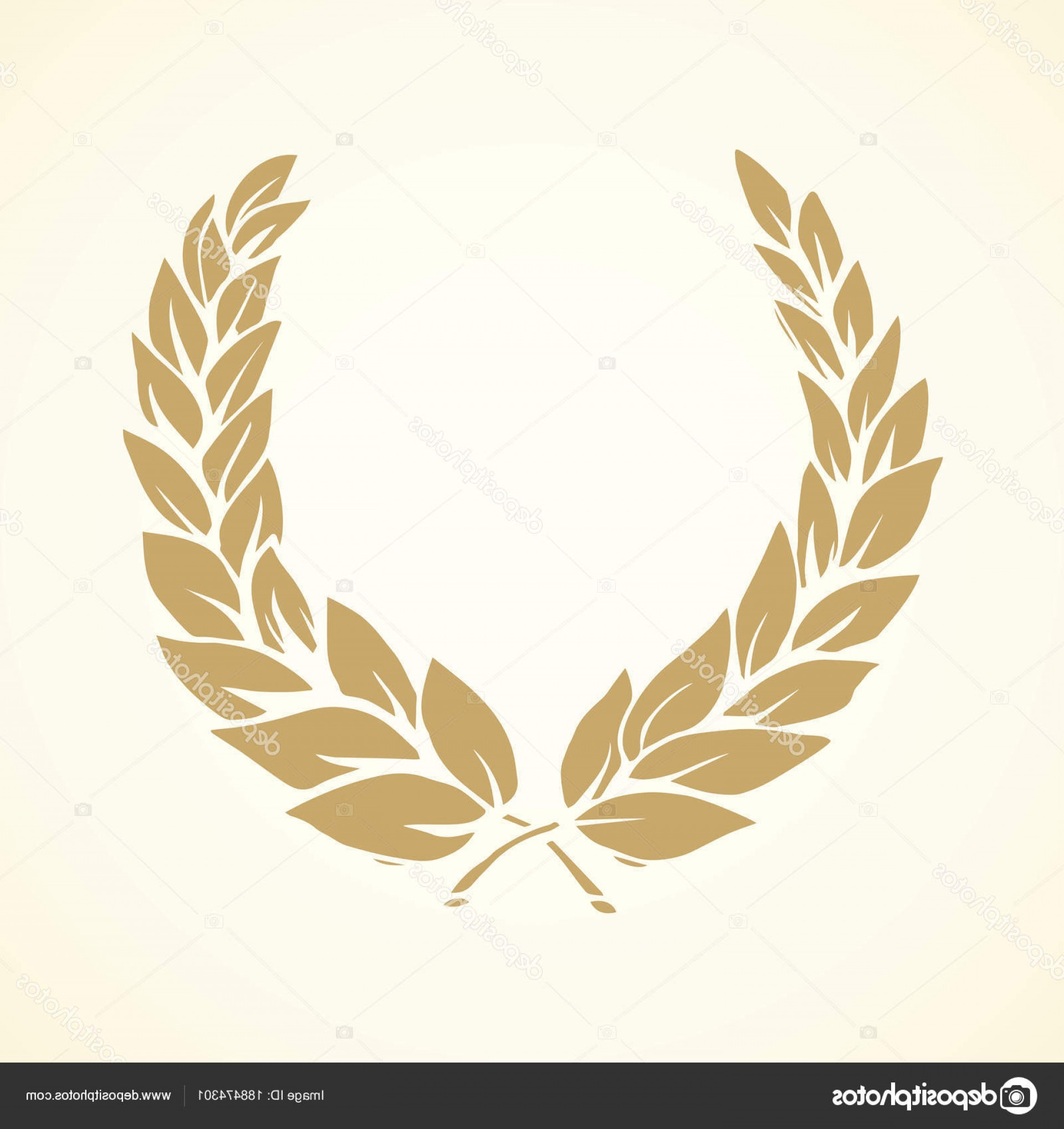 Floral Laurel Wreath Vector: Stock Illustration Laurel Wreath Vector Drawing