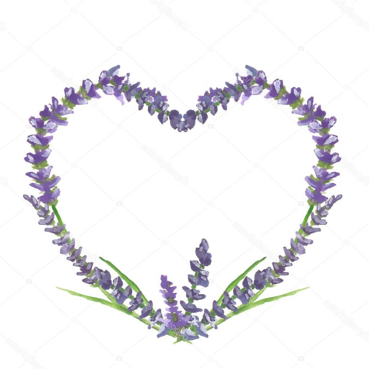 Lilac Wedding Vectors: Stock Illustration Lavender Heart Wedding Or Valentine