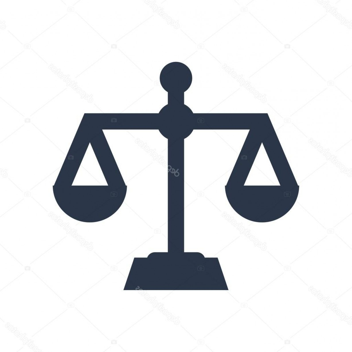 Balance Symbol Vector: Stock Illustration Law Firm Logo Icon With