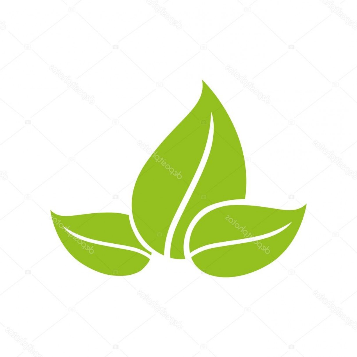 Vector Leaf Graphicd: Stock Illustration Leaves Icon Plant And Nature