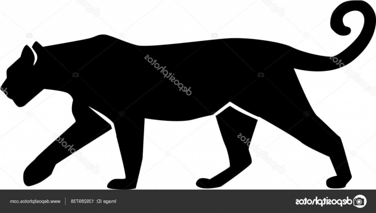 Panther Silhouette Vector: Stock Illustration Leopard Silhouette Gepard Panther