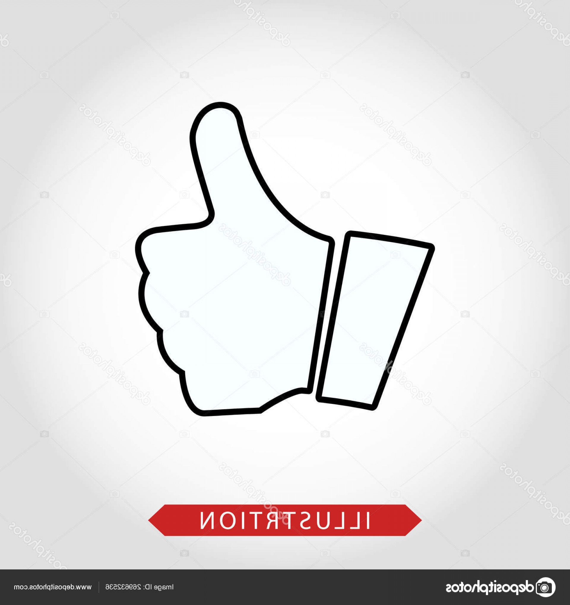 Vector Thumbs Up Down: Stock Illustration Like Icon Vector Thumbs Up