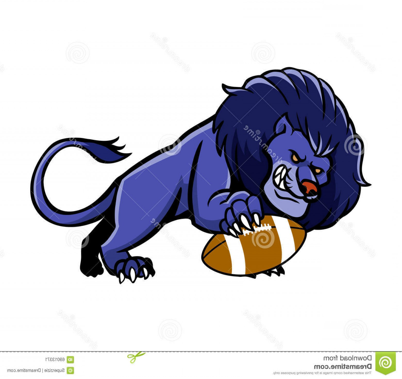 Vector Panther Football: Stock Illustration Lion Football Mascot Vector Illustration Image