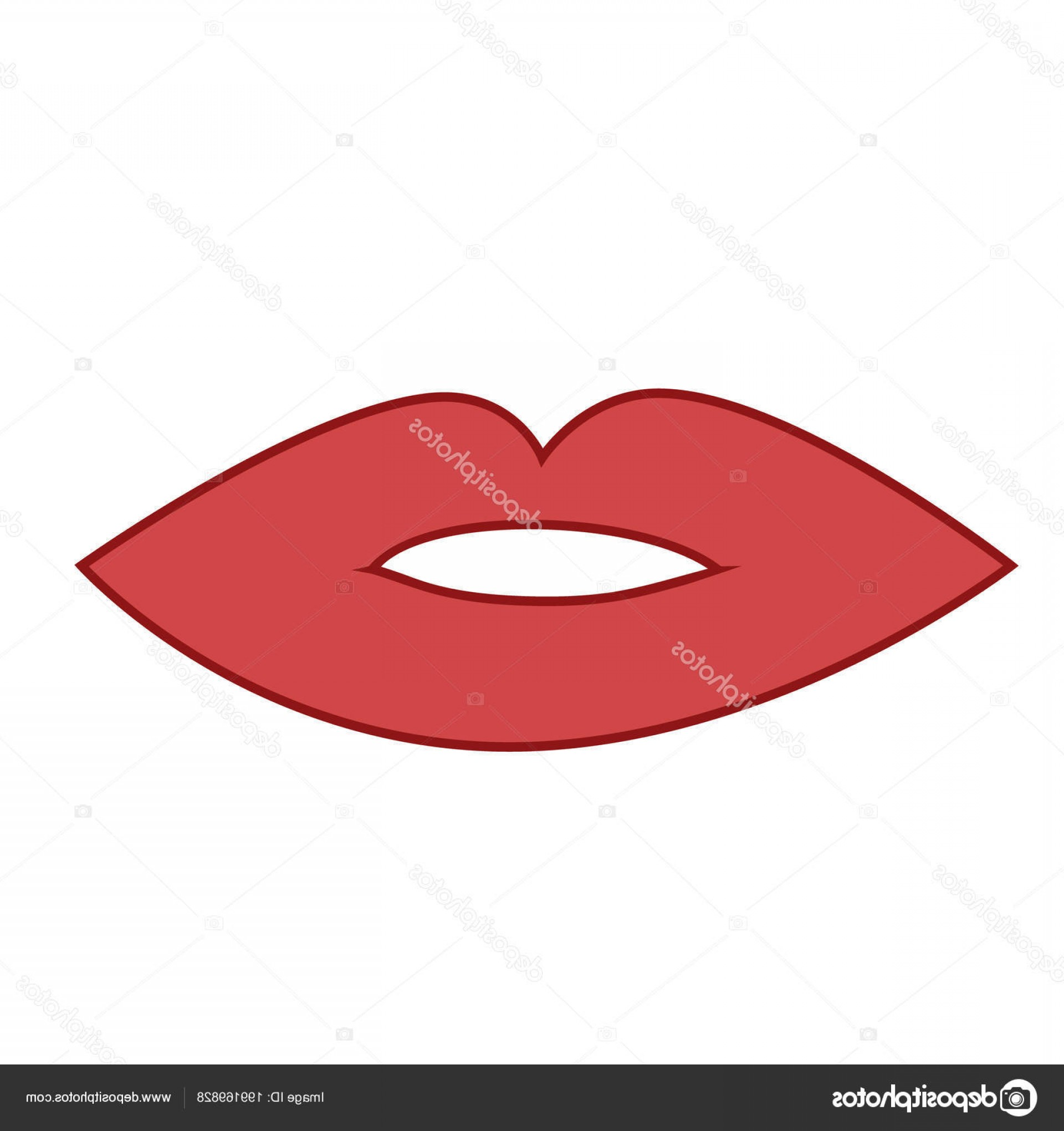 Doll Lips Vector: Stock Illustration Lips Picture Depicts Lips Man