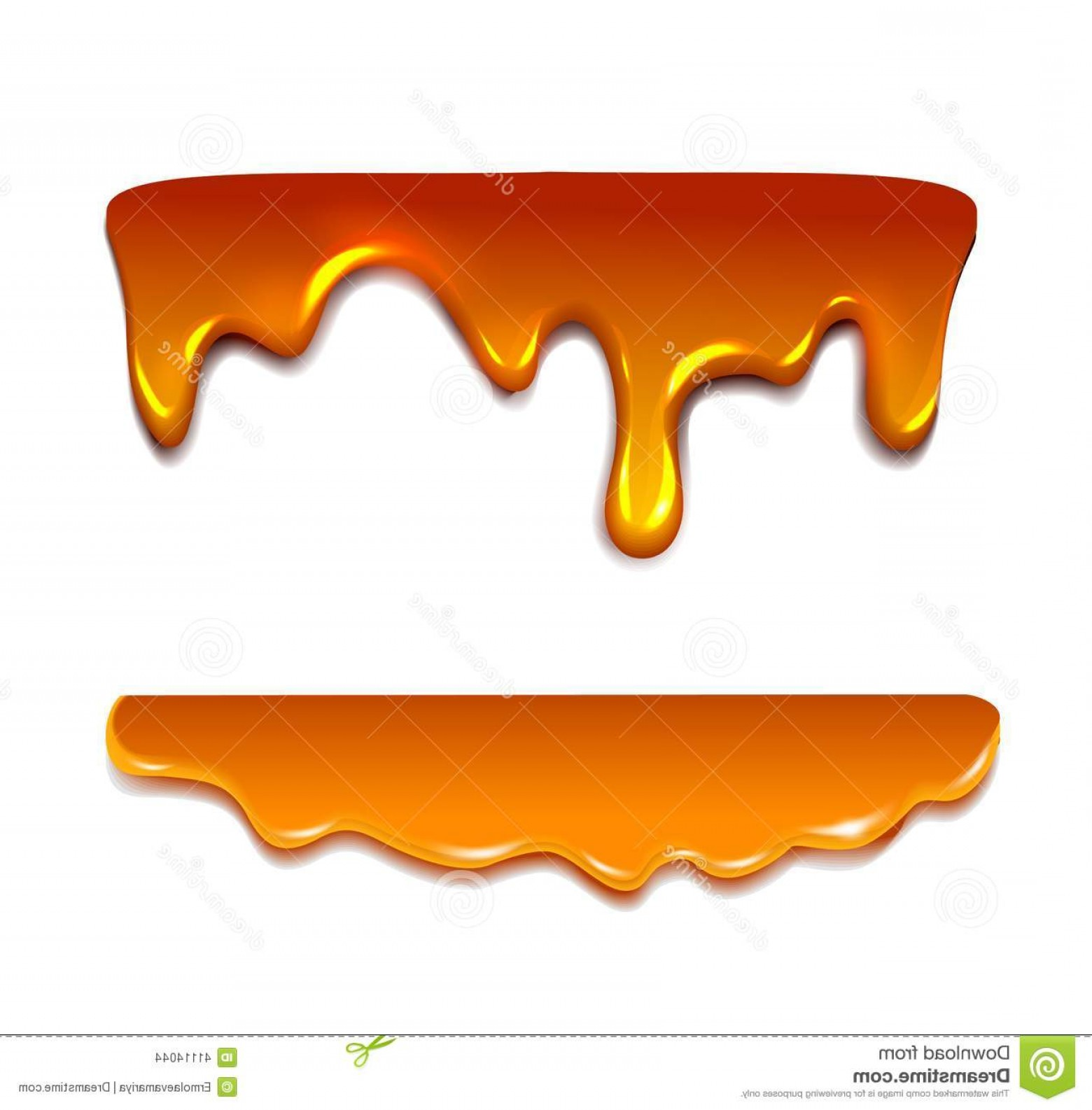 Caramel Drip Vector: Stock Illustration Liquid Caramel Honey Vector Illustration Image