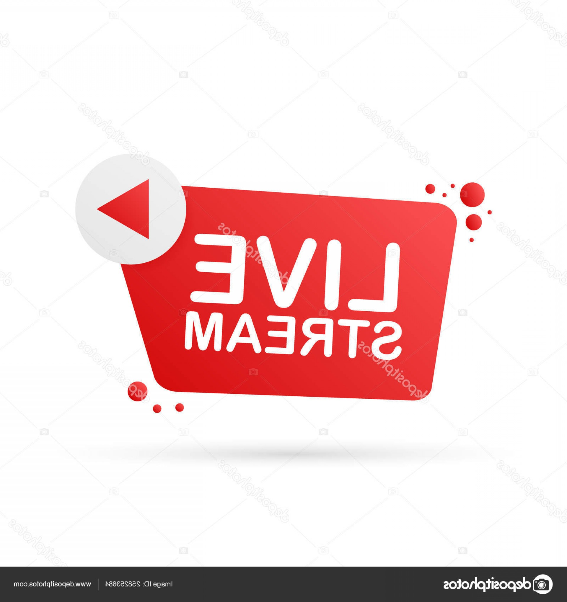 YouTube RedVector Real Life: Stock Illustration Live Stream Flat Logo Red