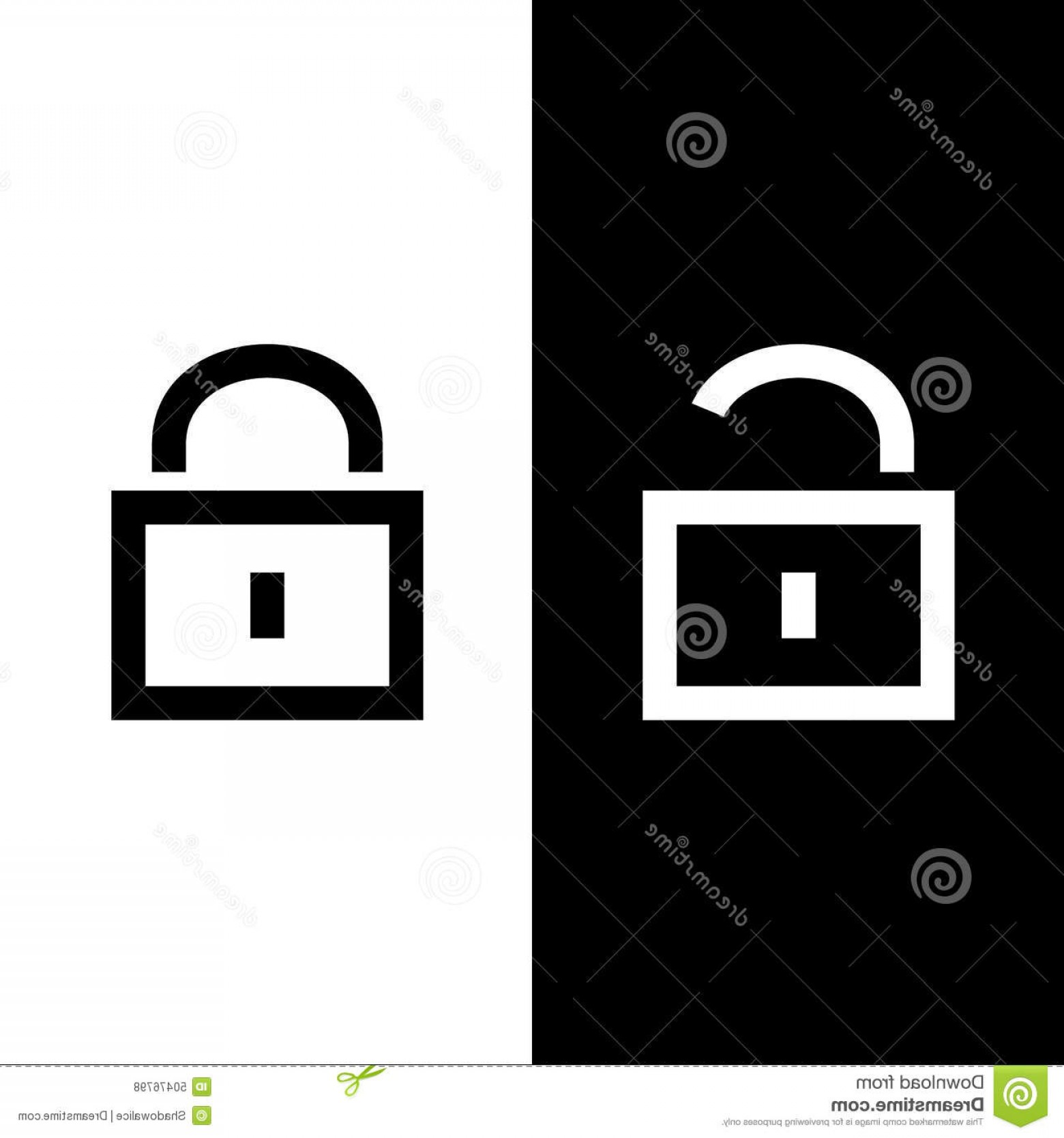 Lock Unlock Icon Vector: Stock Illustration Lock Unlock Icon Great Any Use Vector Eps Best Image