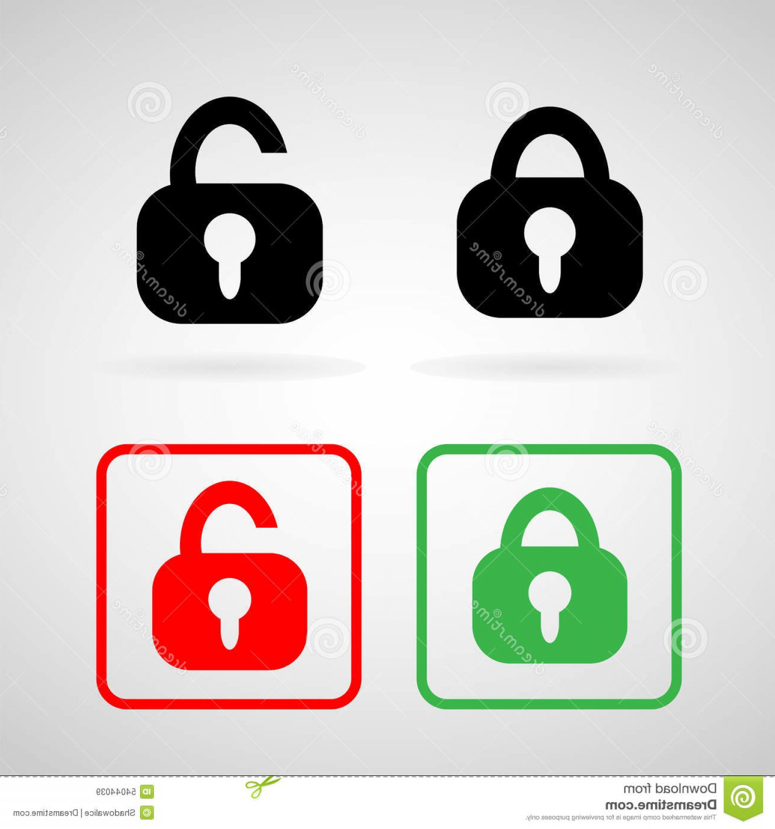 Lock Unlock Icon Vector: Stock Illustration Lock Unlock Icons Set Great Any Use Vector Eps Image