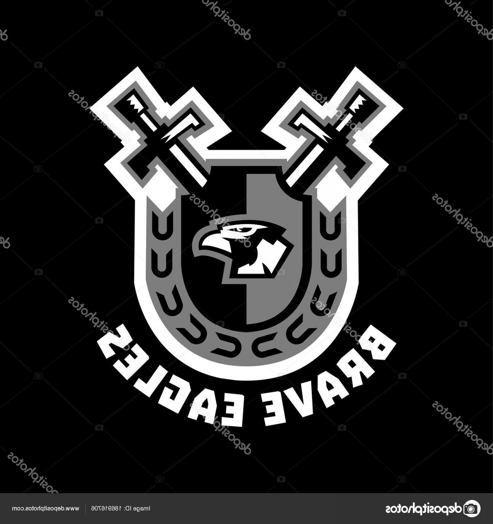 Vector Eagle Shield Sword: Stock Illustration Logo Brave Eagles Eagle Head