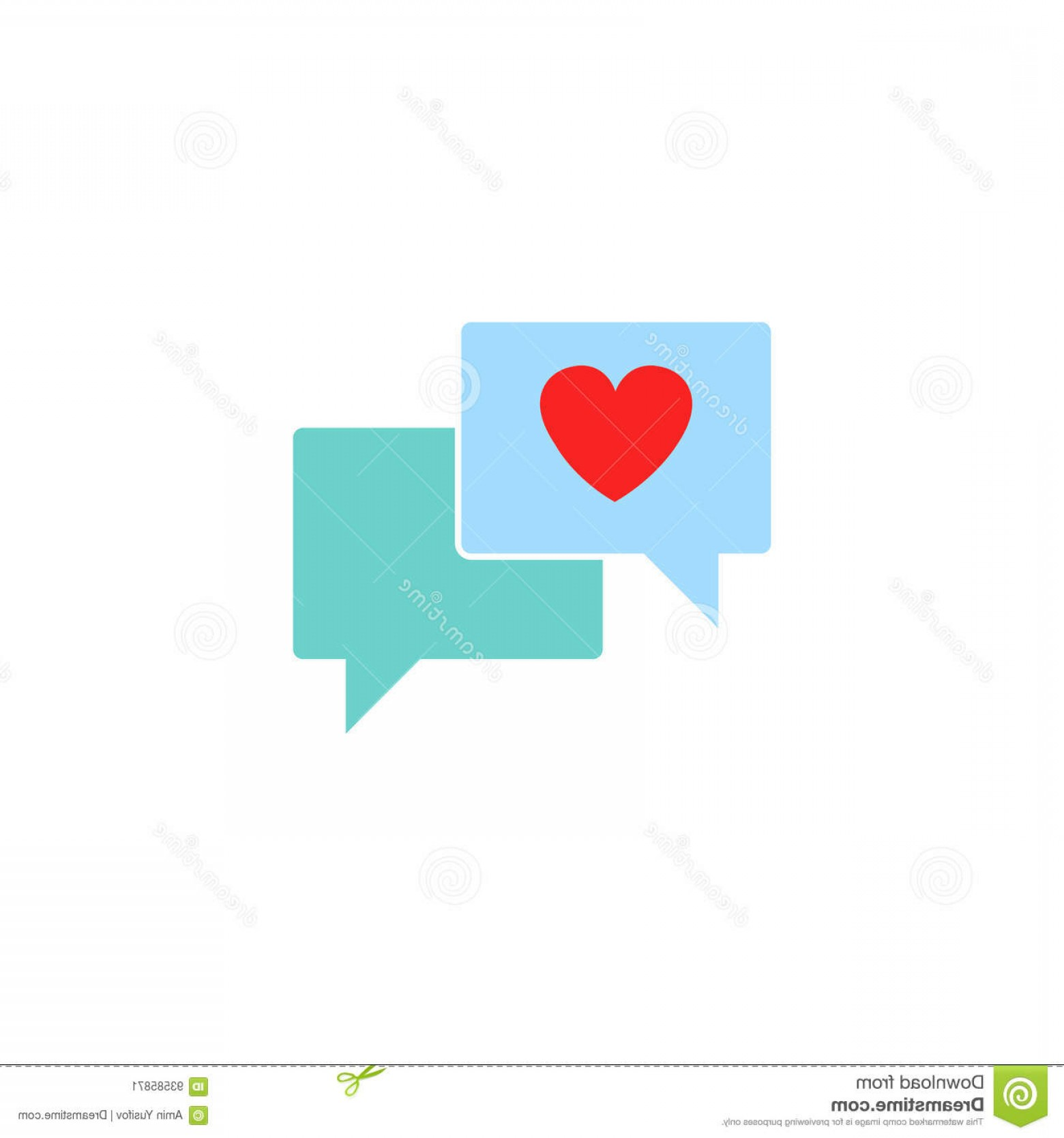 Solid Heart Vector Drawing: Stock Illustration Love Chat Solid Icon Heart Speech Bubble Vector Graphics Colorful Linear Pattern White Background Eps Image