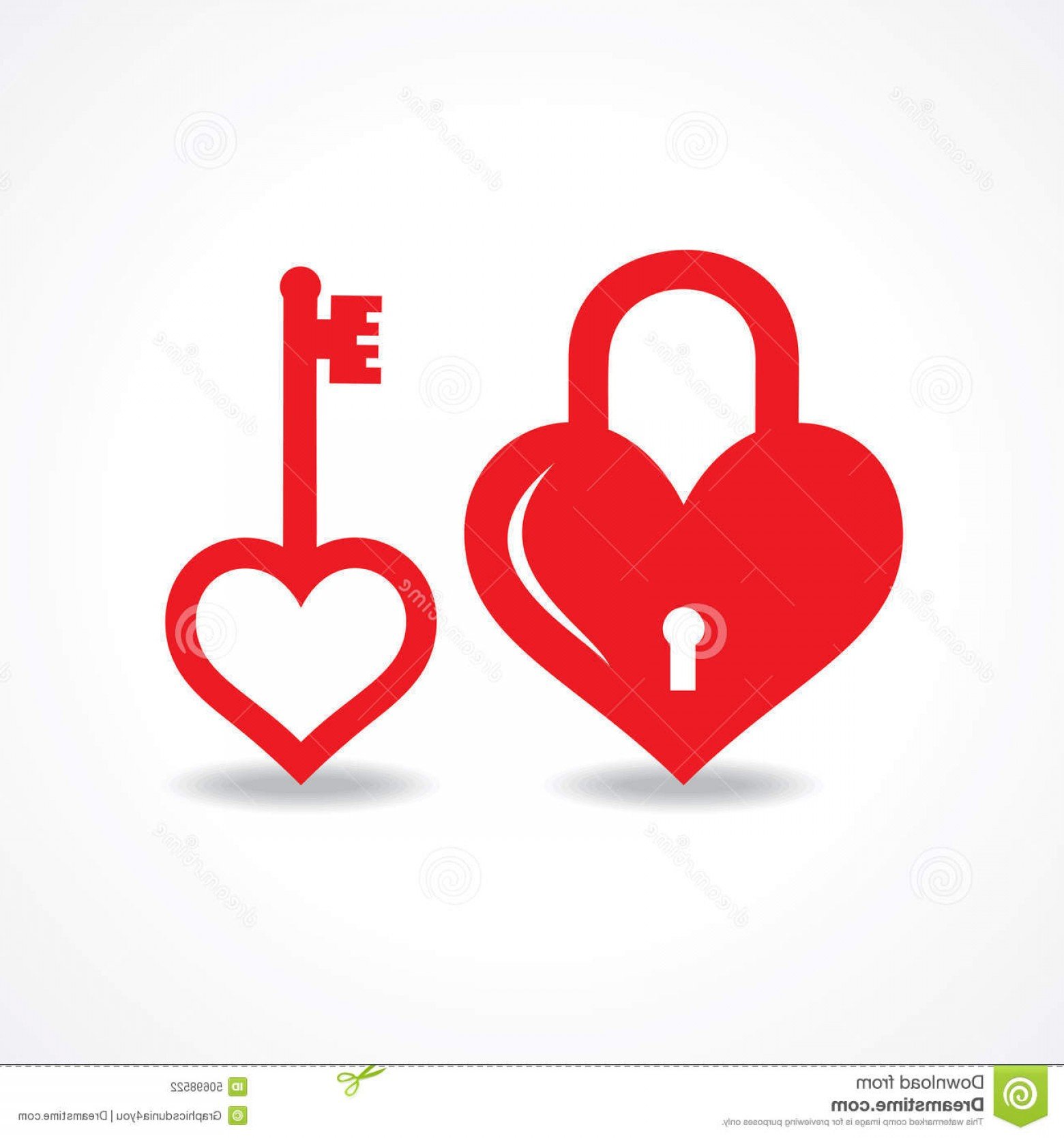 Heart Lock Vector: Stock Illustration Love Lock Key Design Vector Illustration Image