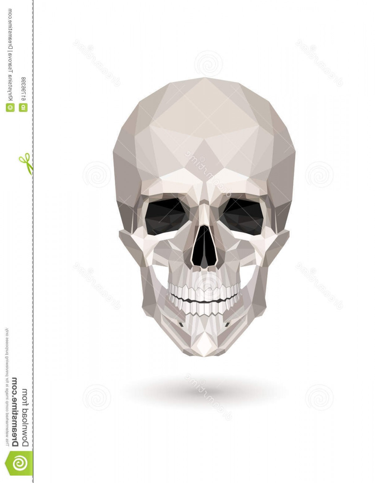 His And Hers Skulls Vector: Stock Illustration Low Poly Skull Vector White Background Image