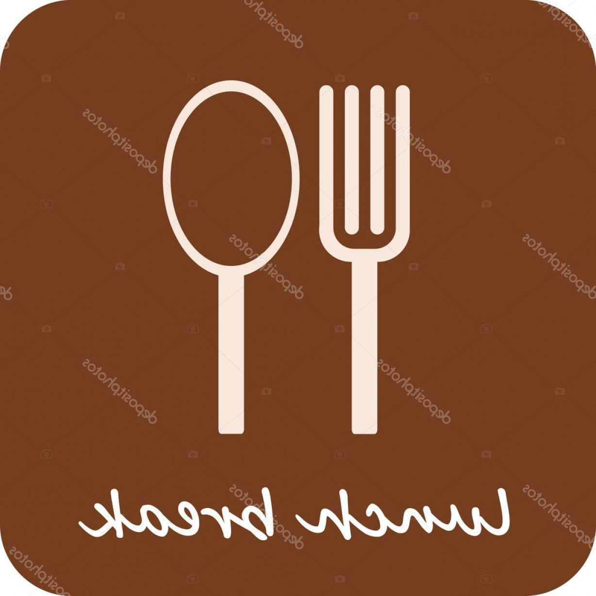 L Unch Icon In Vector: Stock Illustration Lunch Break Isolated Vector Icon