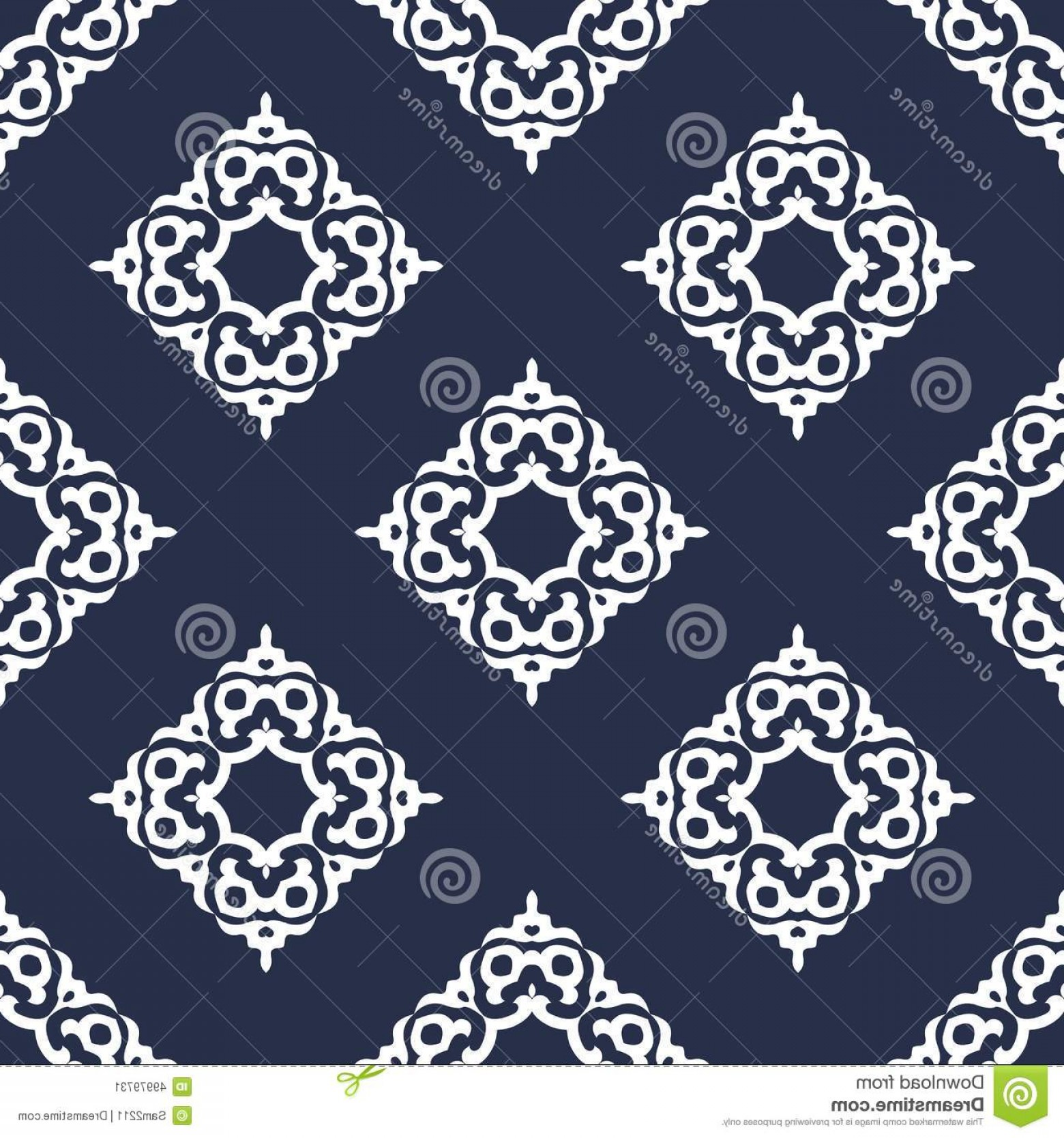 Victorian Motif Vector: Stock Illustration Luxury Damask Seamless Motif Vector Blue Gold Vintage Victorian Style Pattern Illustration Image